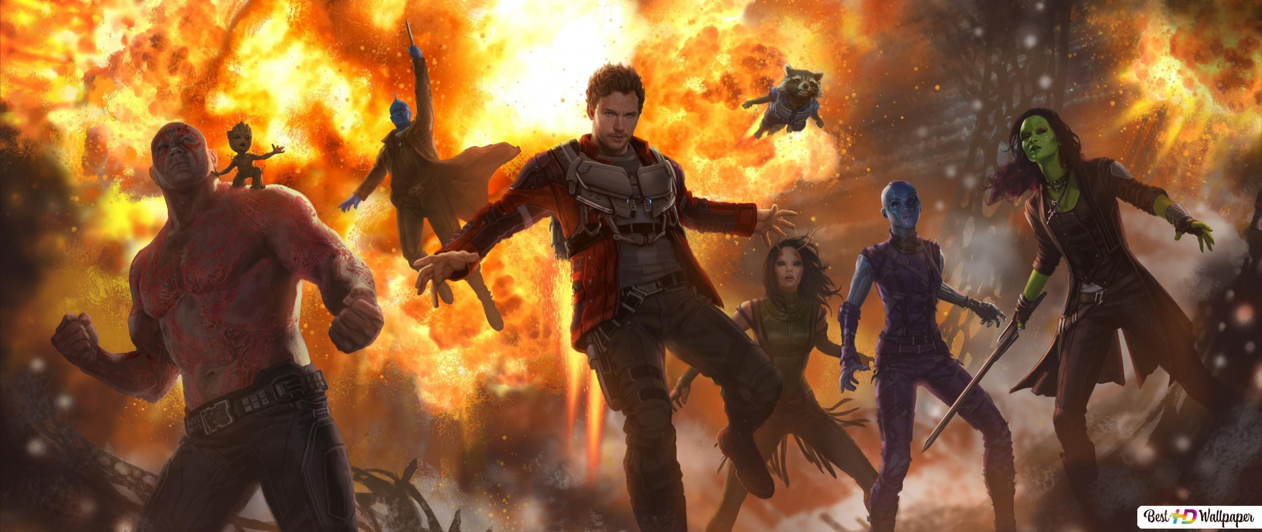 Guardians Of The Galaxy Vol 2 Heroes Hd Wallpaper Download