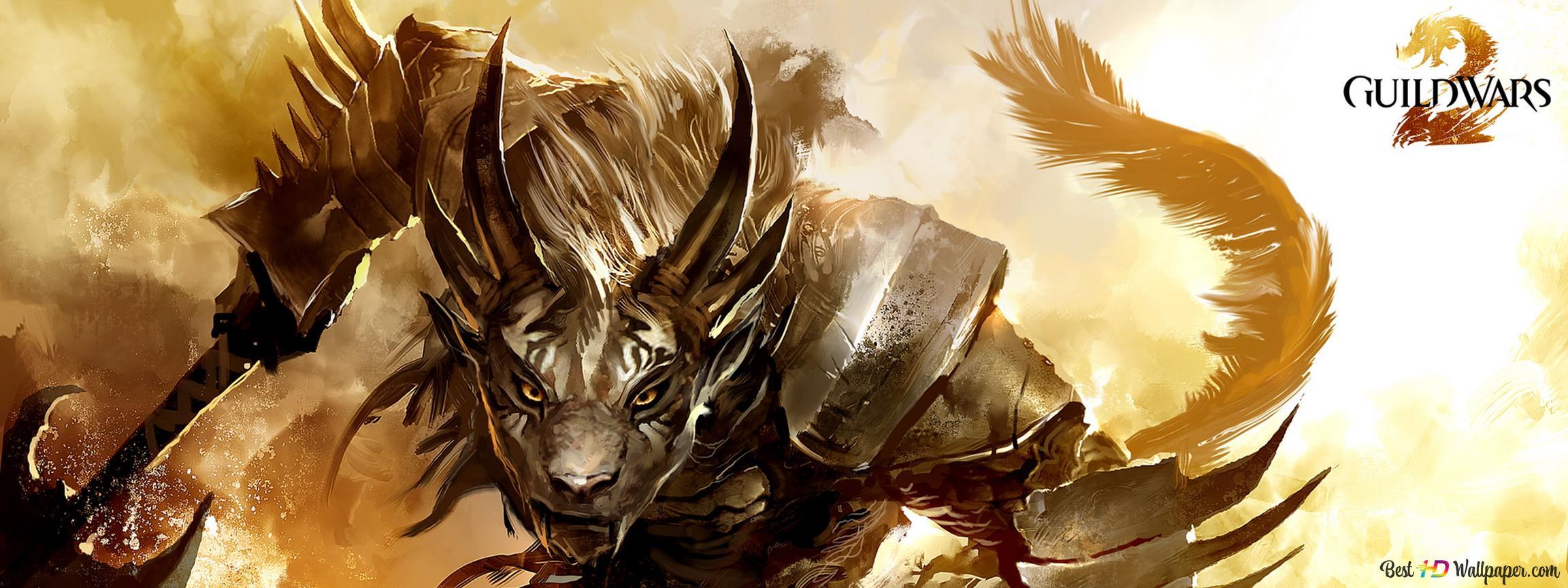 Guild Wars 2 game - Tiger warrior HD wallpaper download