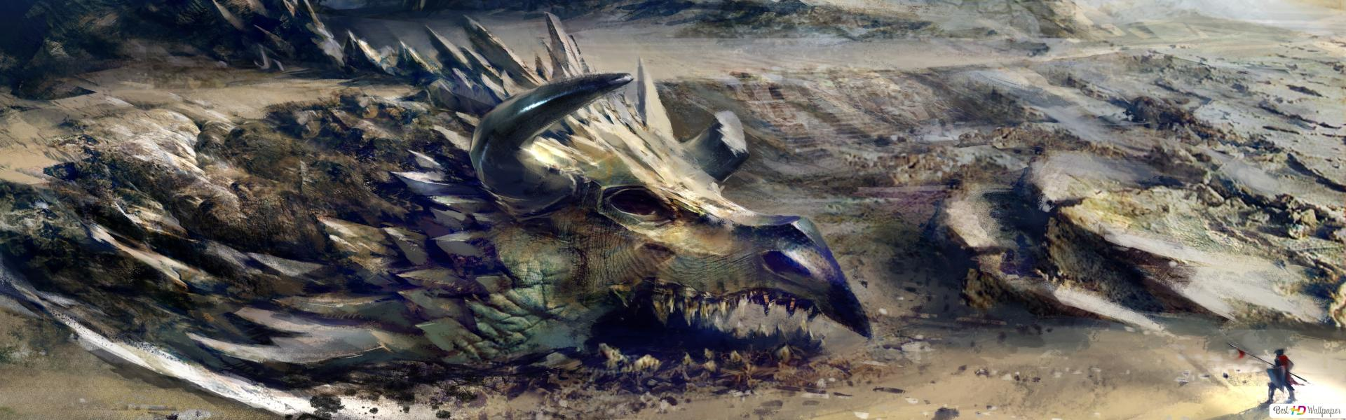 Guild Wars 2 Oyunu Ejderha Boyama Hd Duvar Kagidi Indir
