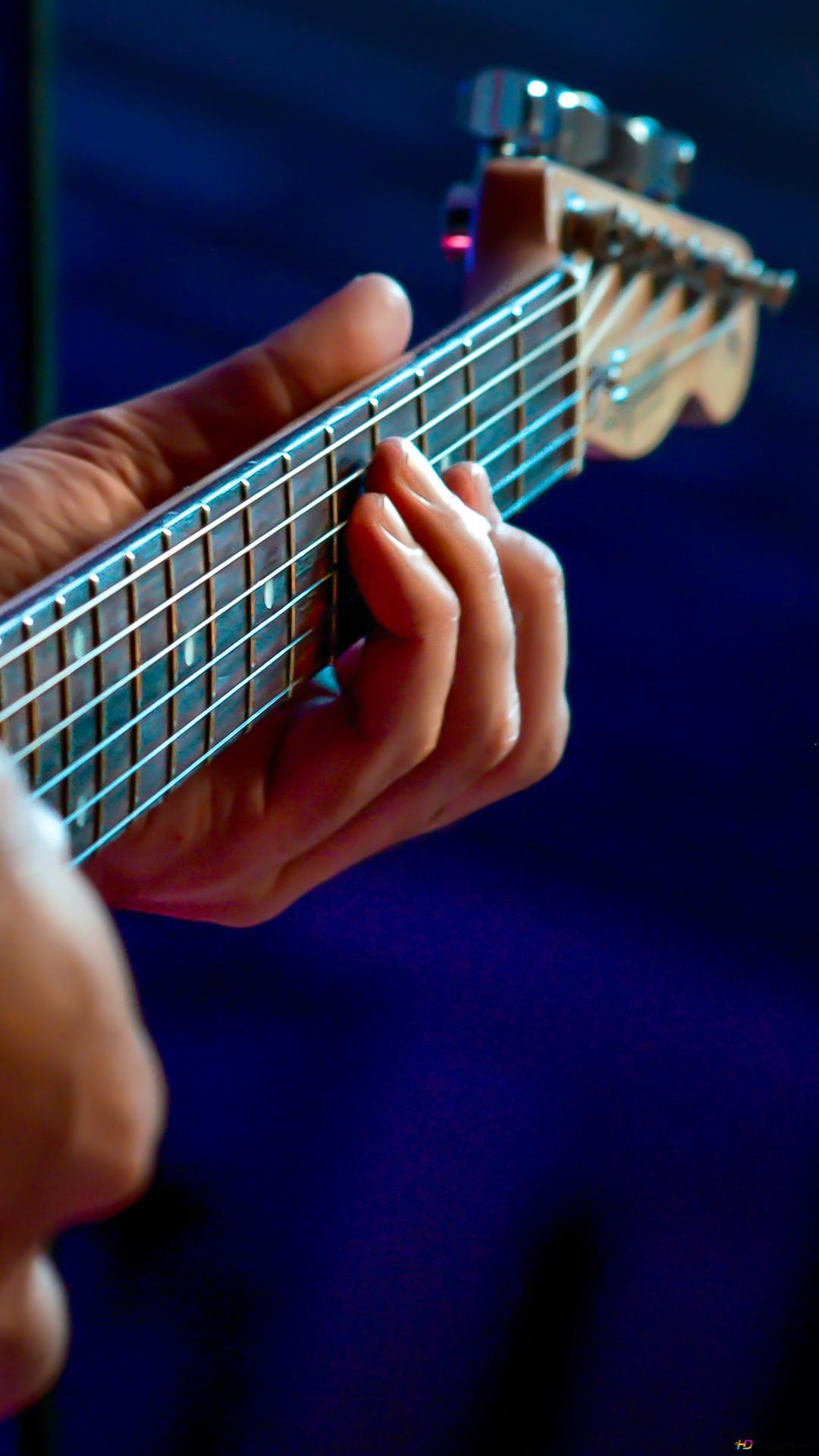 Guitarist Playing Electric Guitar Hd Wallpaper Download