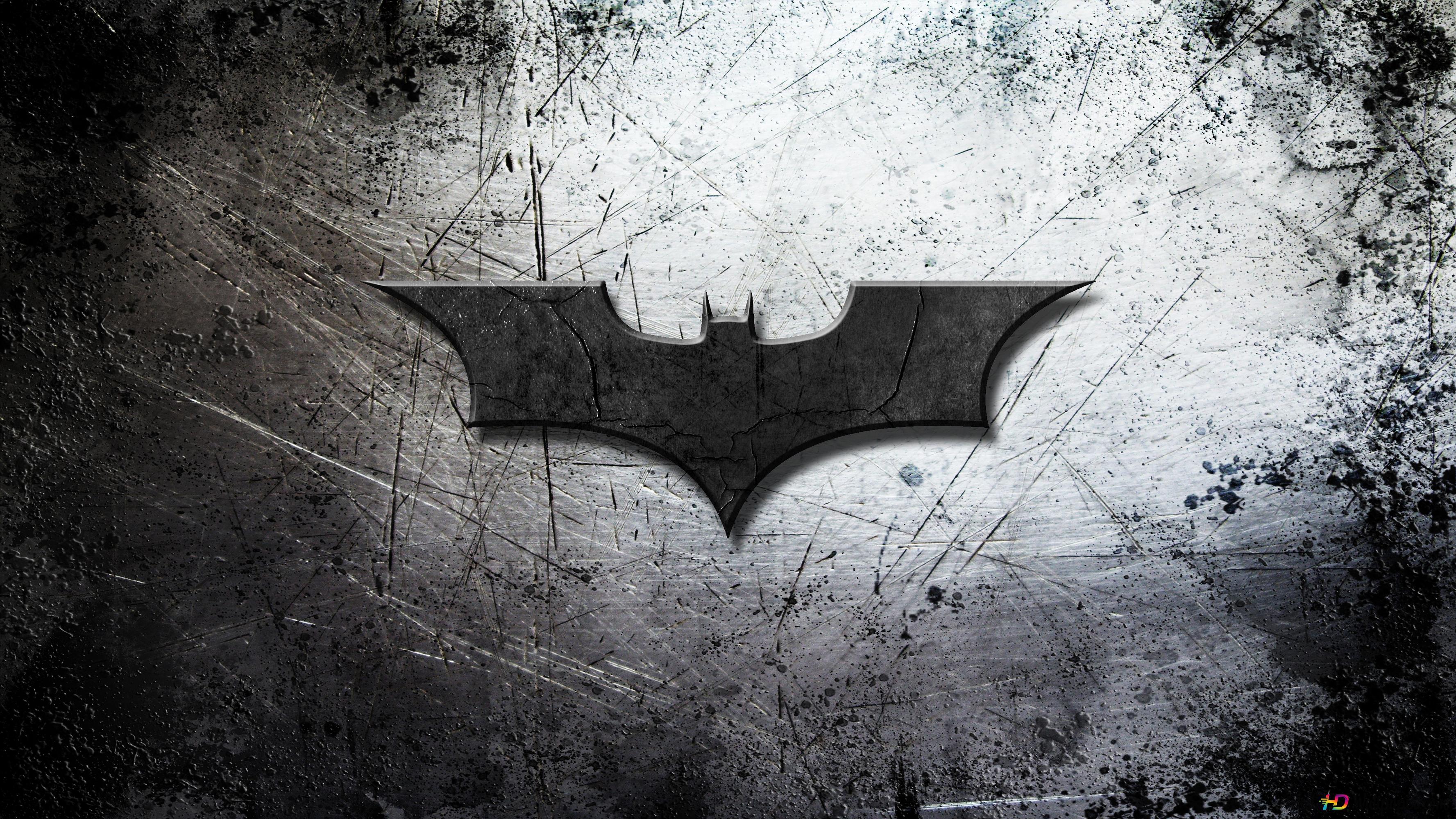 グランジの背景にバットマンのロゴ Hd壁紙のダウンロード