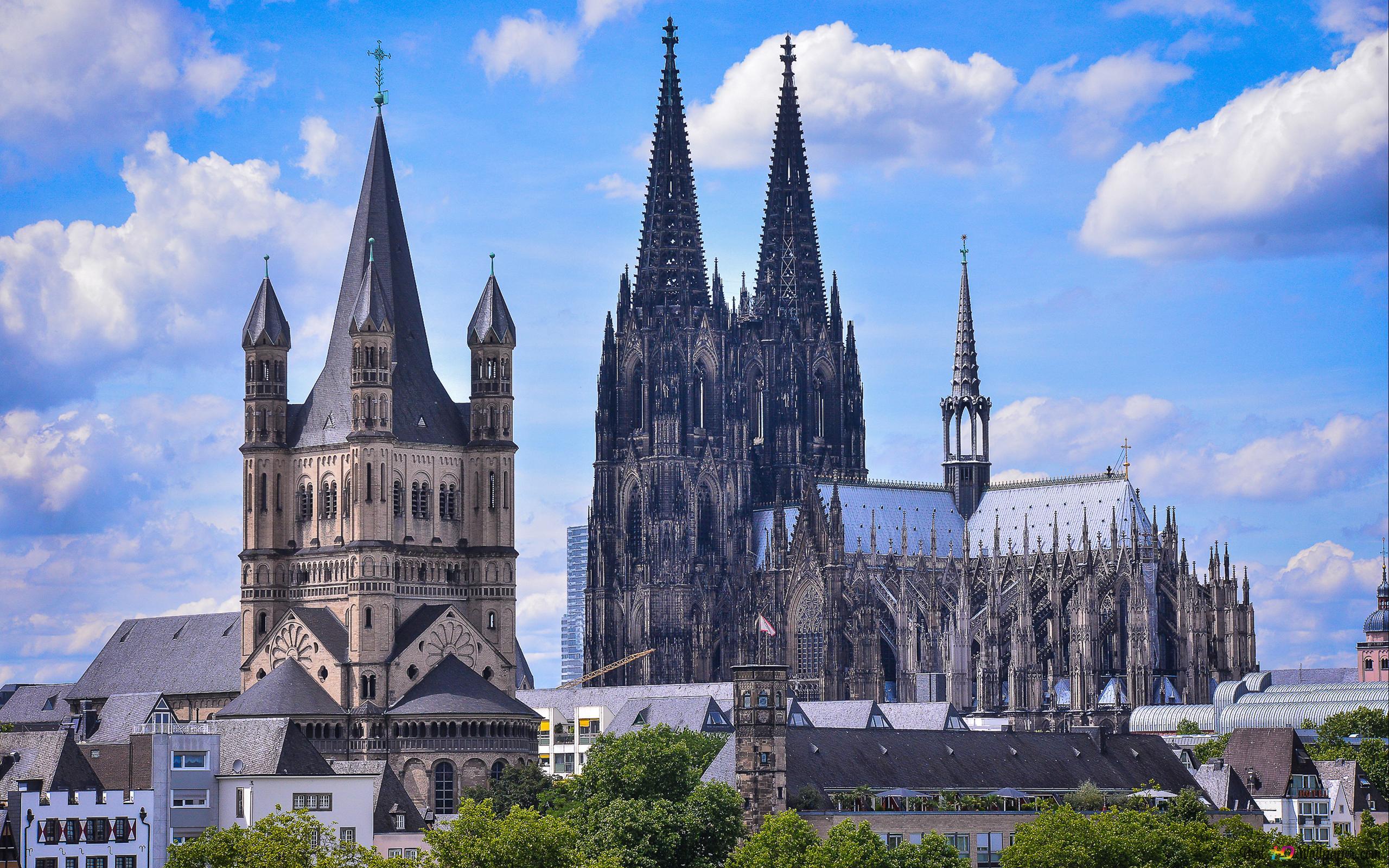 グレートst Martinケルン大聖堂教会 ケルン ドイツ Hd壁紙のダウンロード