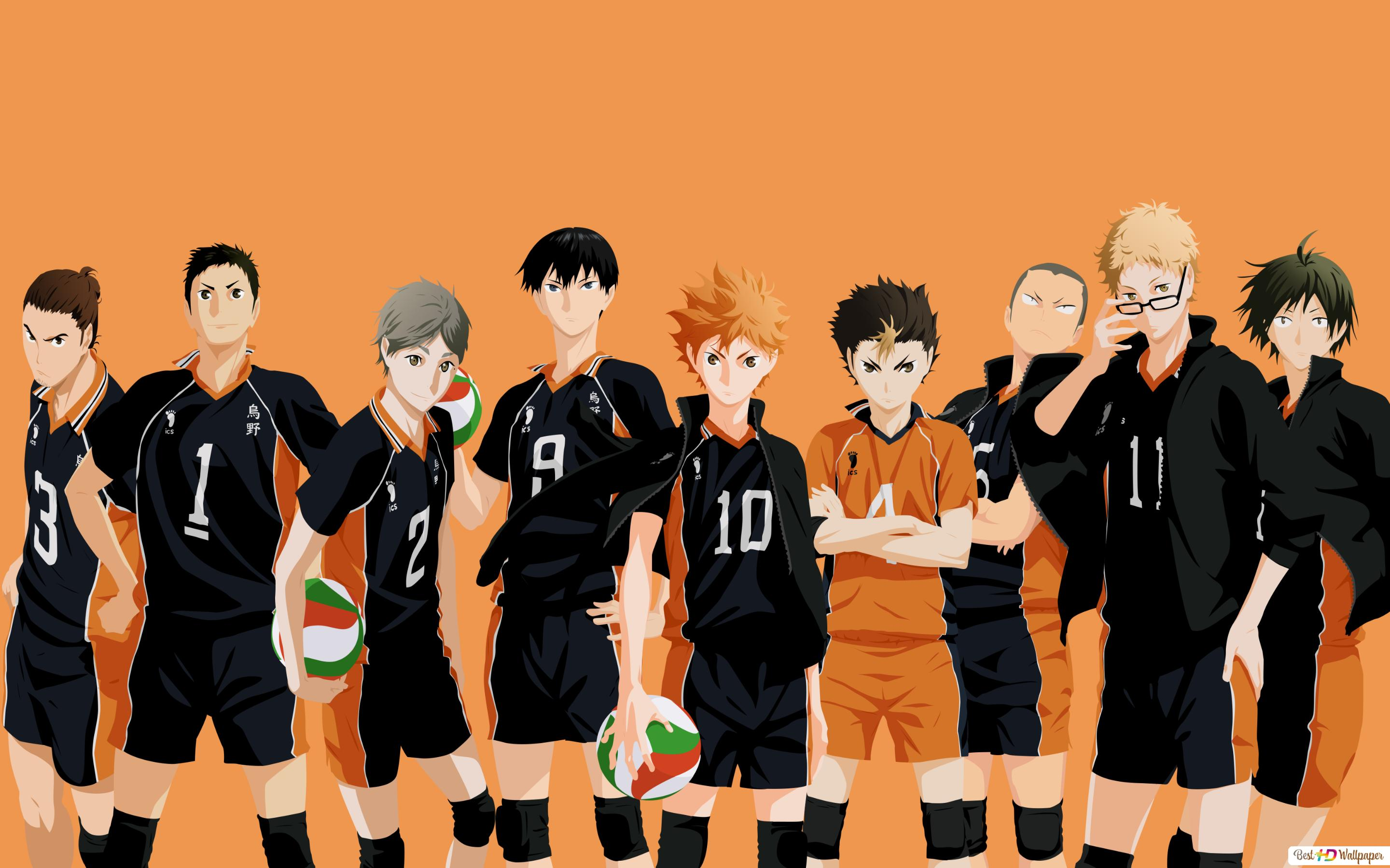 Haikyuu Tim Karasuno Unduhan Wallpaper Hd