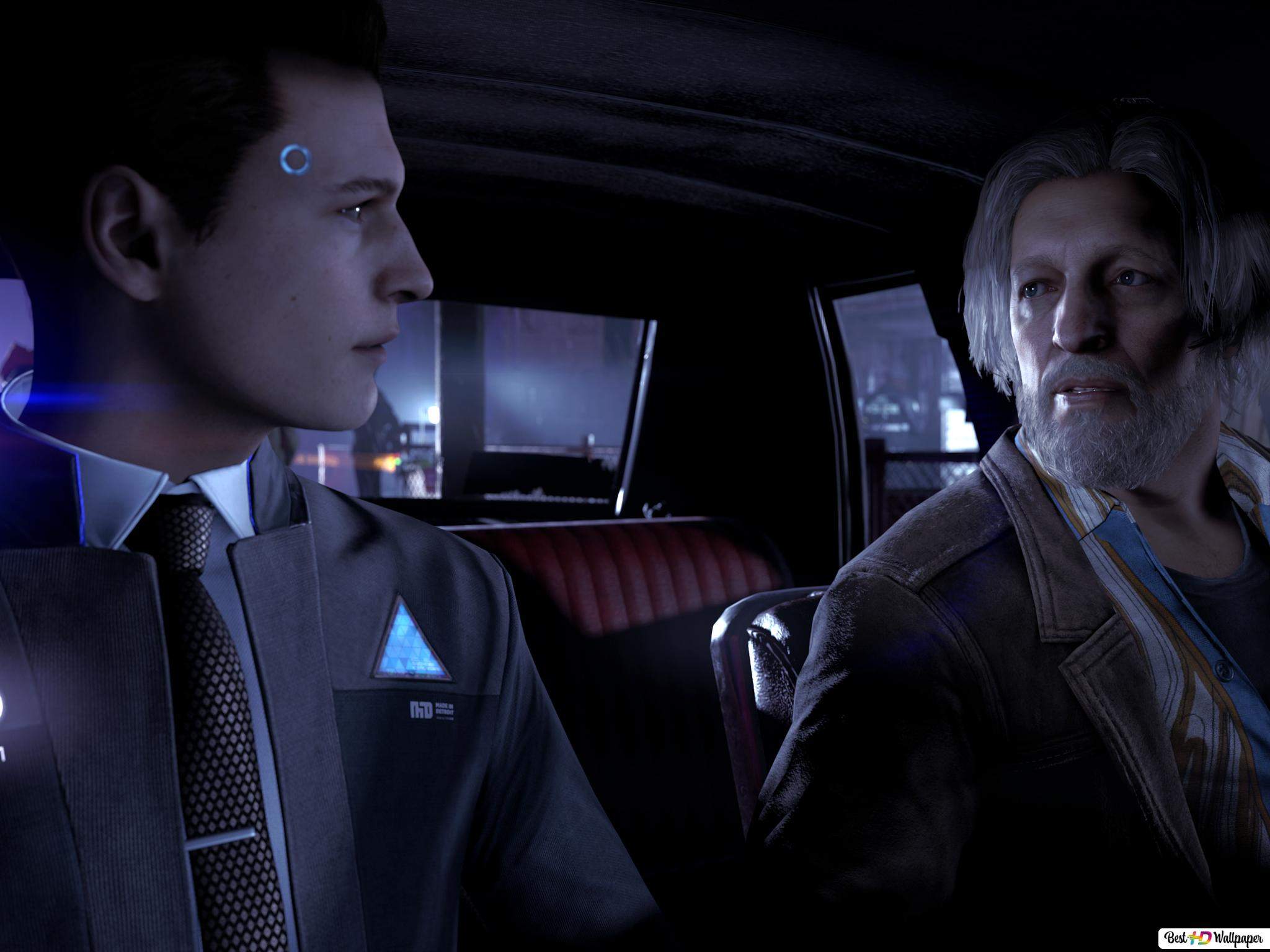 Hank And Connor Detroit Hd Wallpaper Download