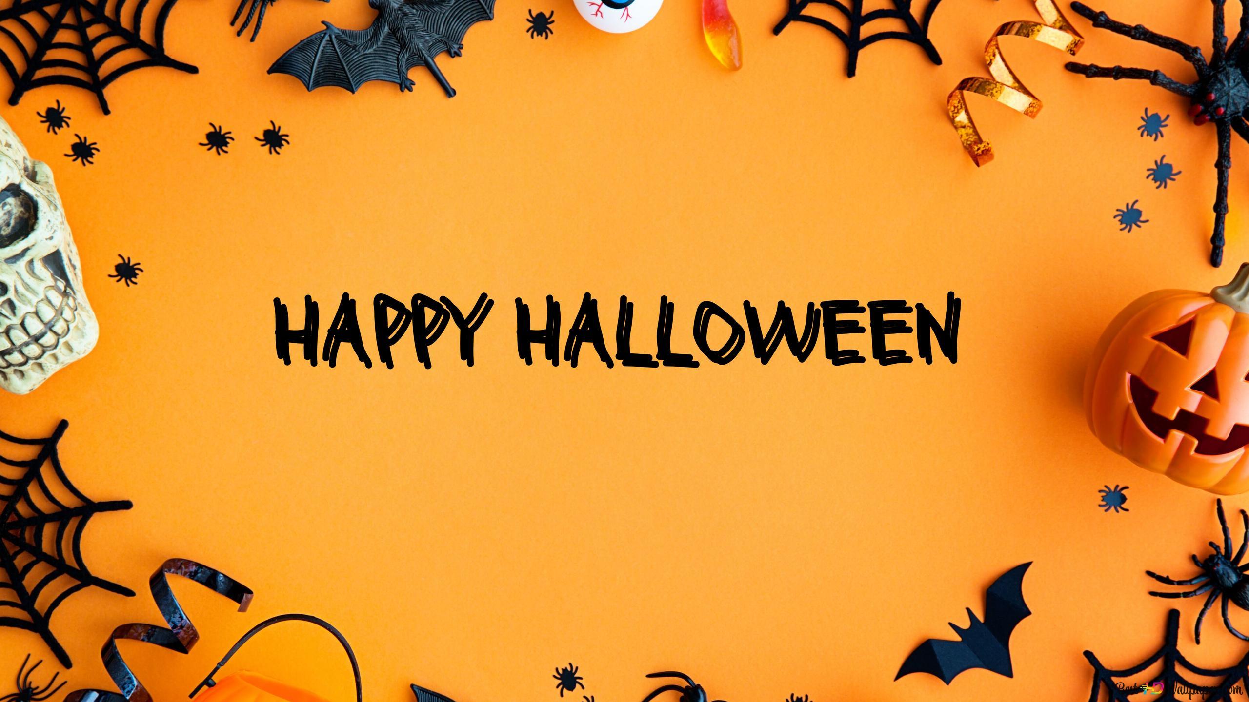 Happy Halloween Orange Hd Wallpaper Download