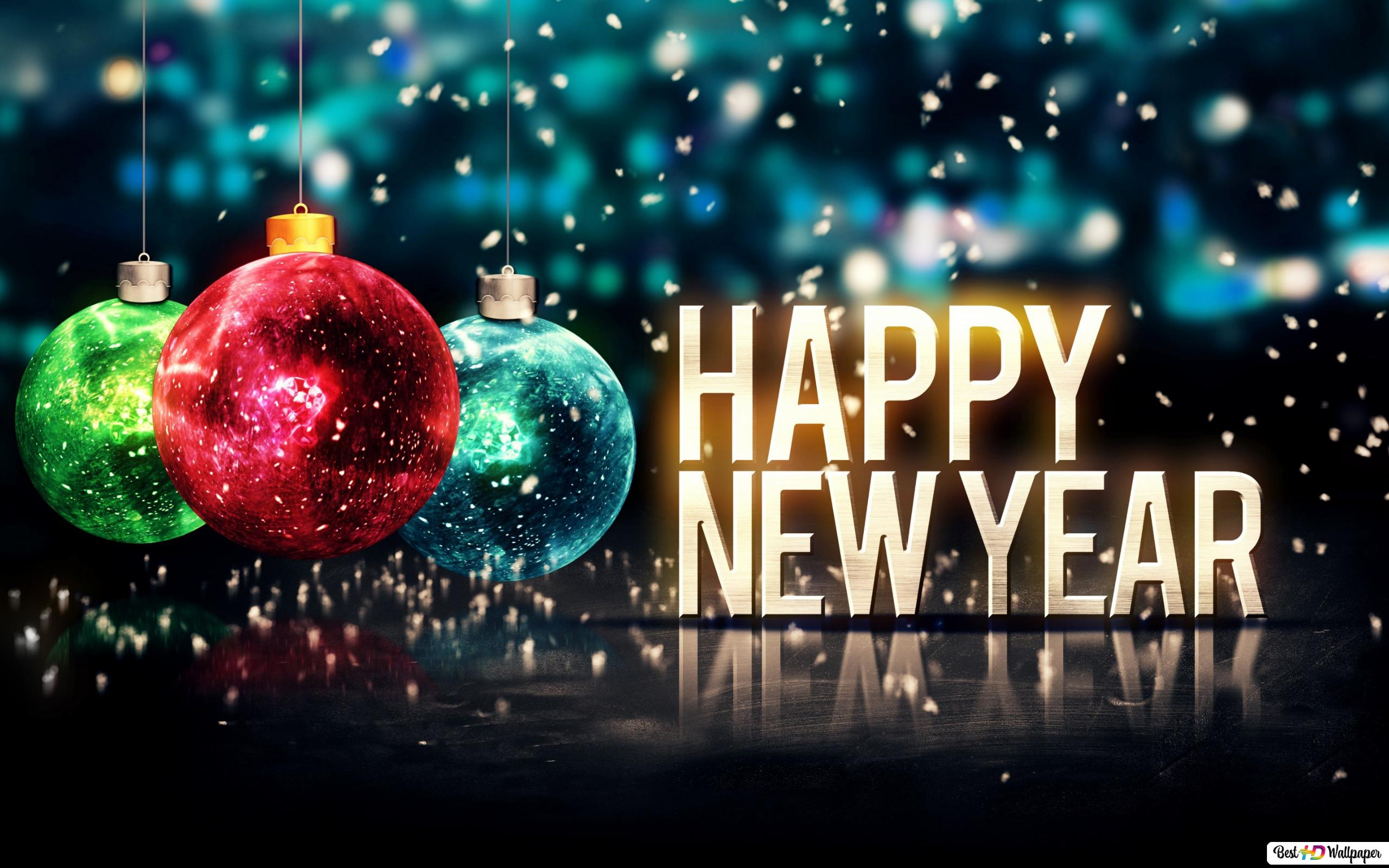 happy new year - colorful hd wallpaper download