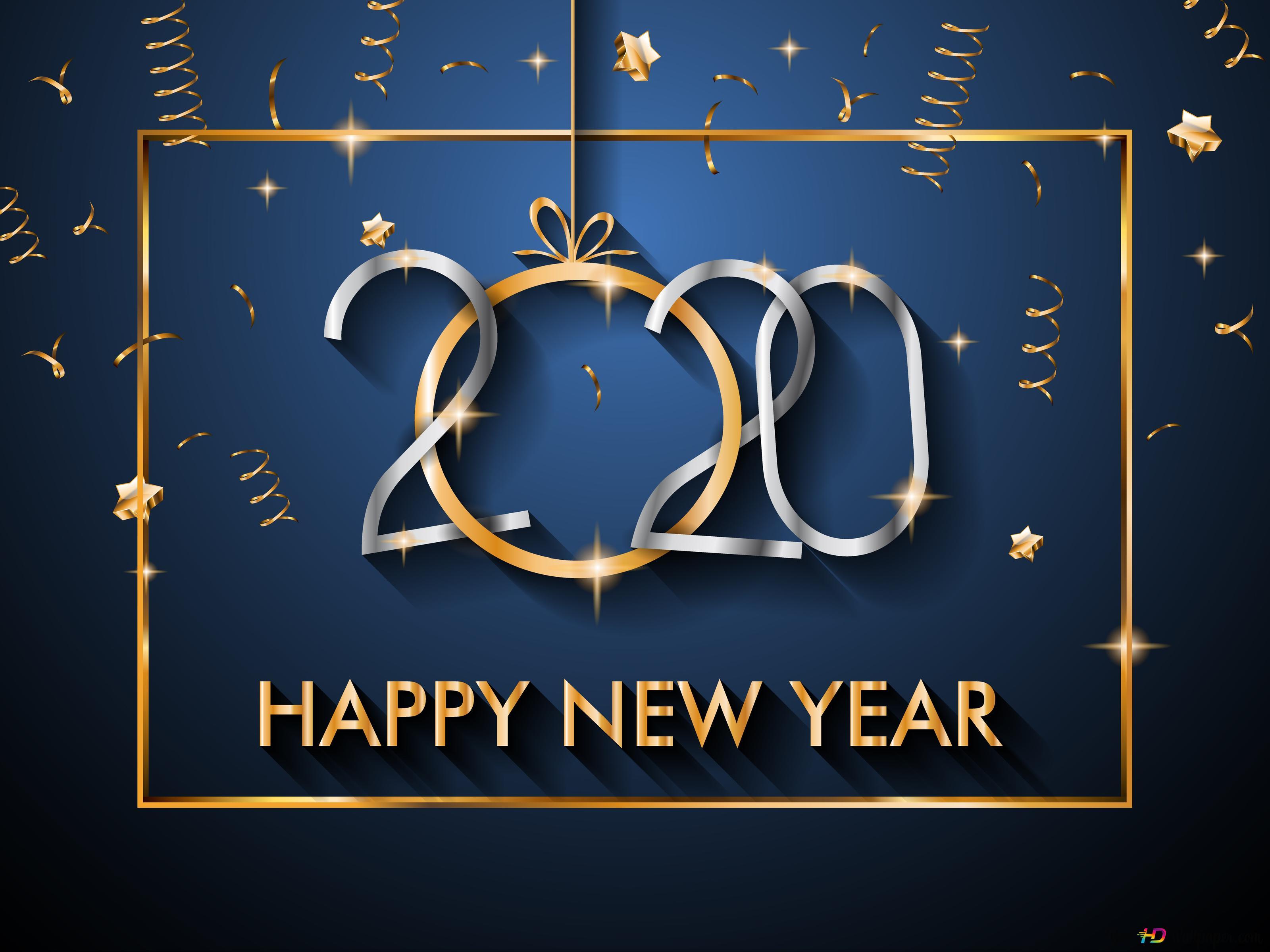 Happy year 2020 HD wallpaper download