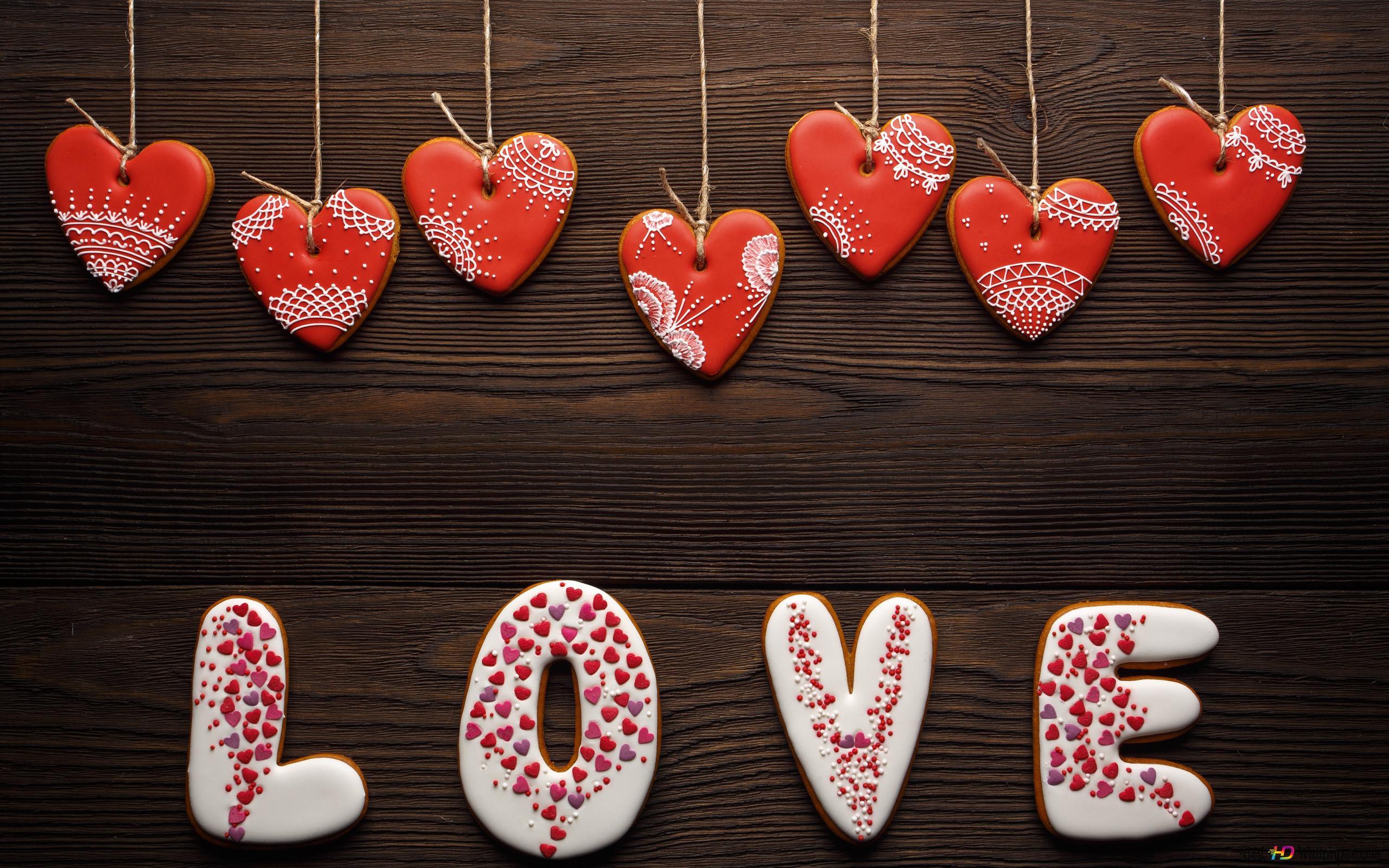 ハート型愛のケーキキャンディ hd壁紙のダウンロード