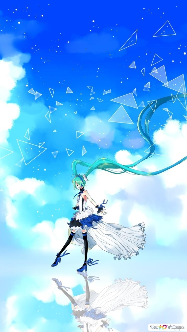 Hatsune Miku And The Blue Sky Hd Wallpaper Download