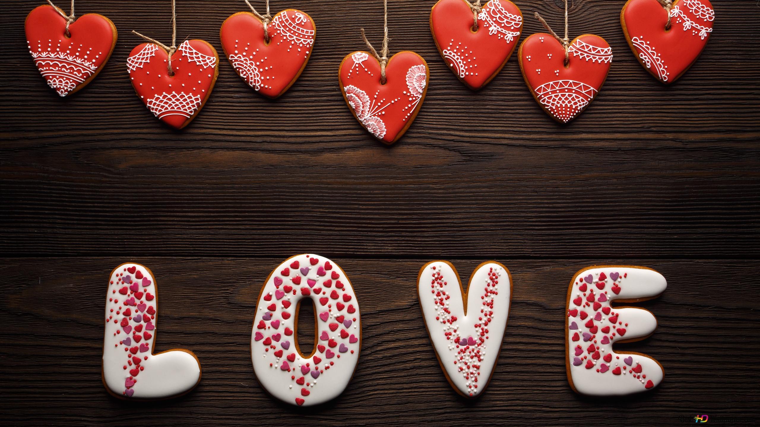 Heart Shaped Liebe Kuchen Süßigkeiten Hd Hintergrundbilder Herunterladen