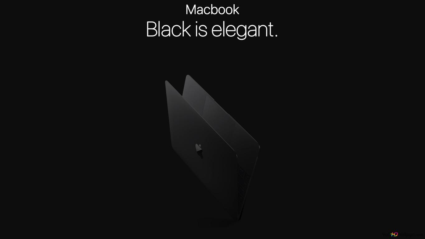 黒のmacbook Hd壁紙のダウンロード