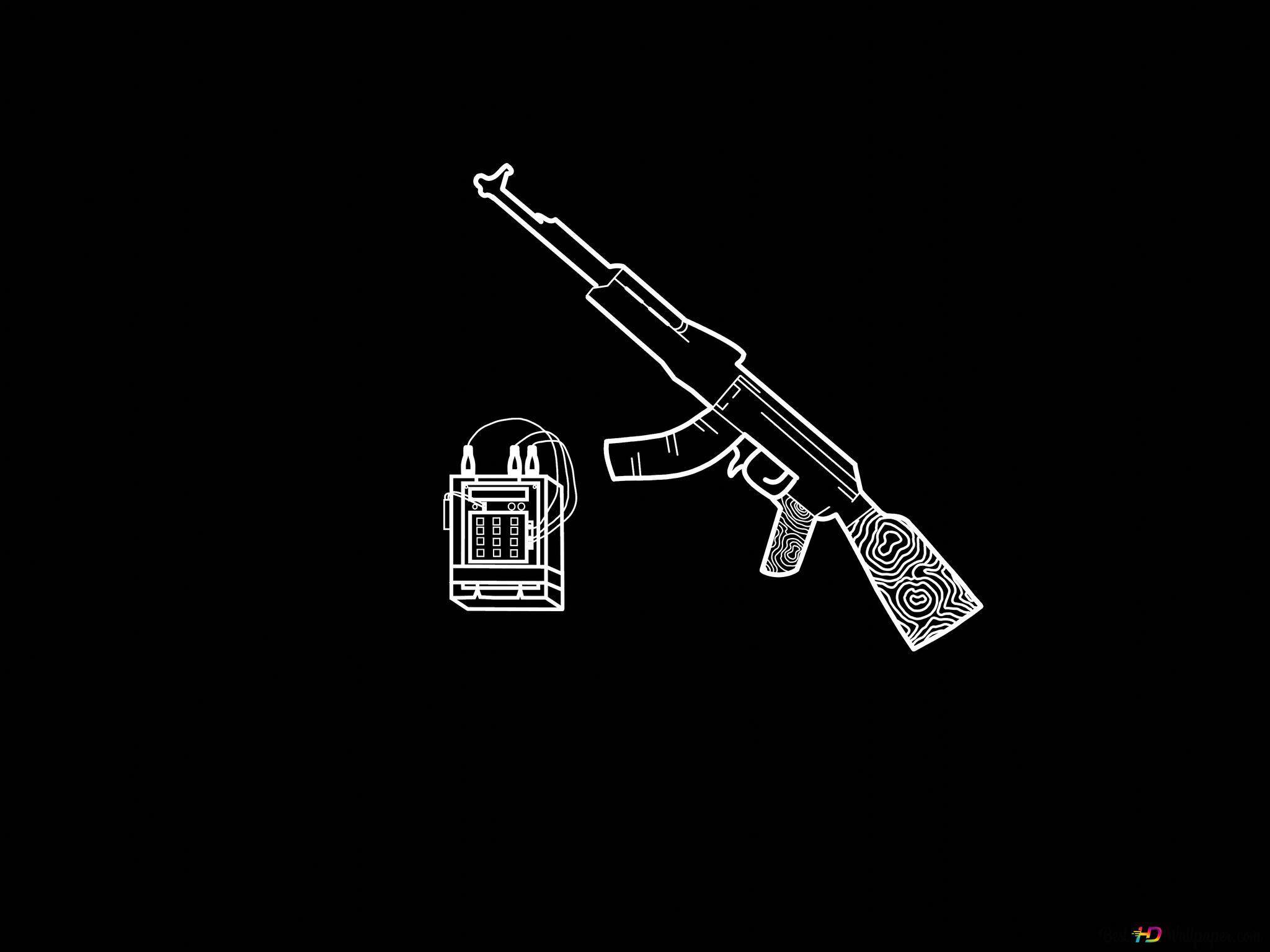 黒と白のテロ 銃や爆弾 Hd壁紙のダウンロード