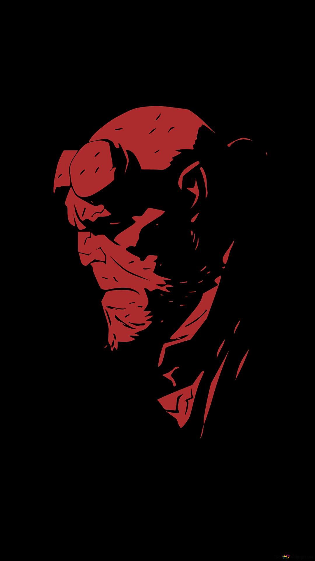 ヘルボーイ赤と黒のミニマル Hd壁紙のダウンロード