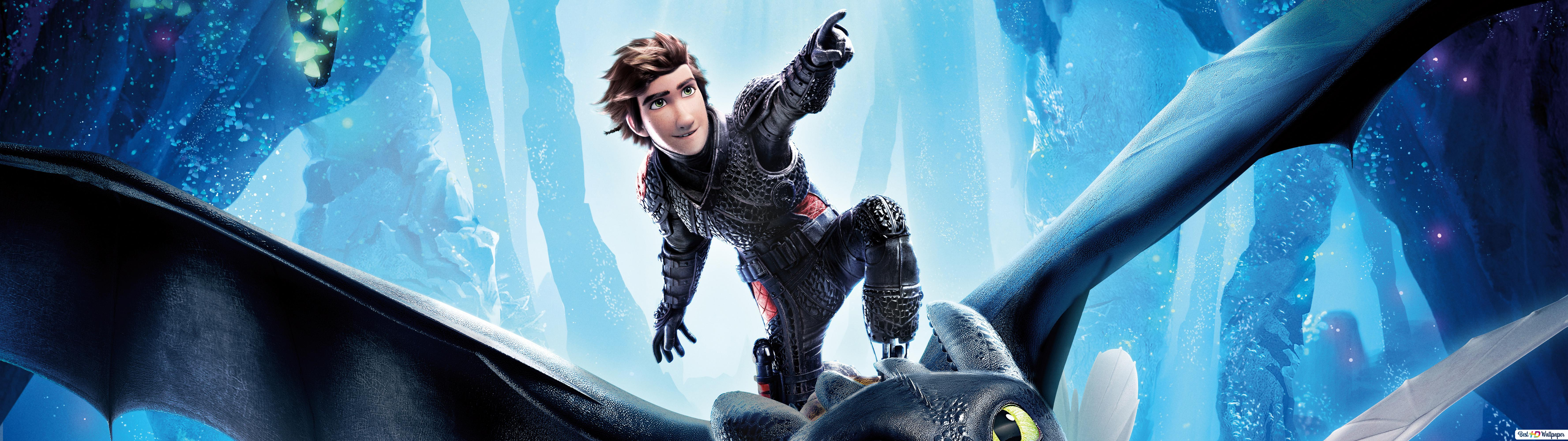 Hiccup And Toothless And A Light Fury Hd Wallpaper Download