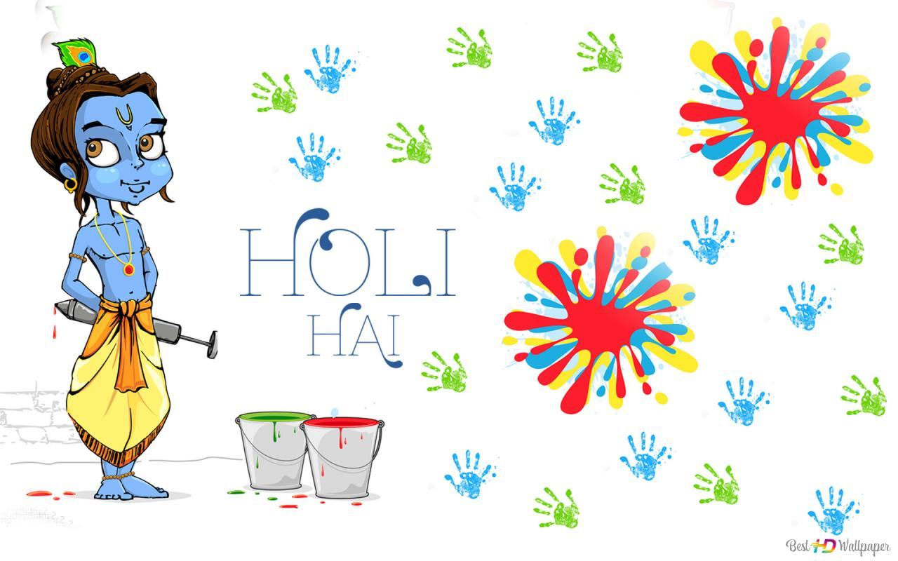 Holi With Krishna Hd Wallpaper Download