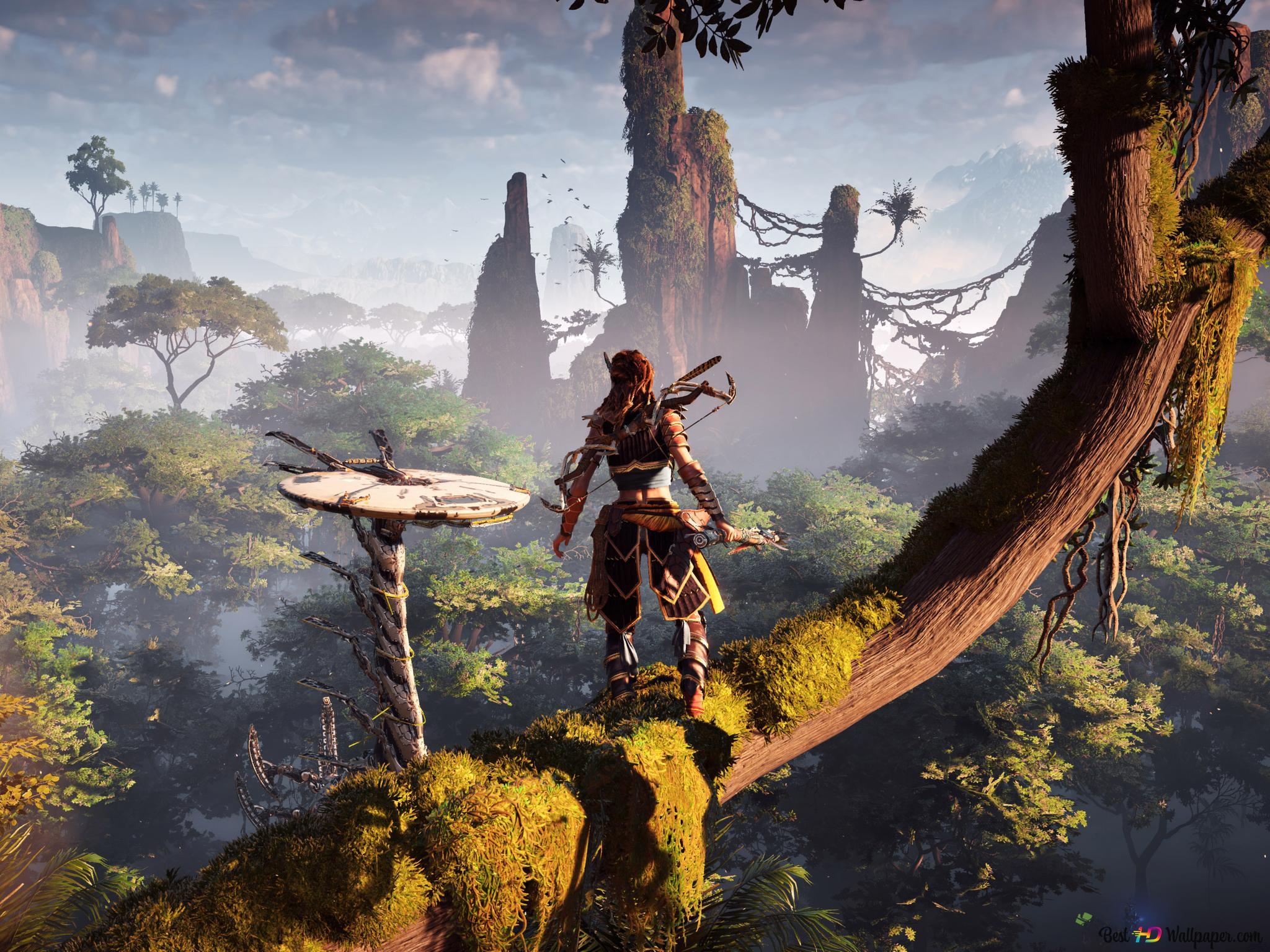 Horizon Zero Dawn Aloy In The Forest Gameplay Hd Wallpaper