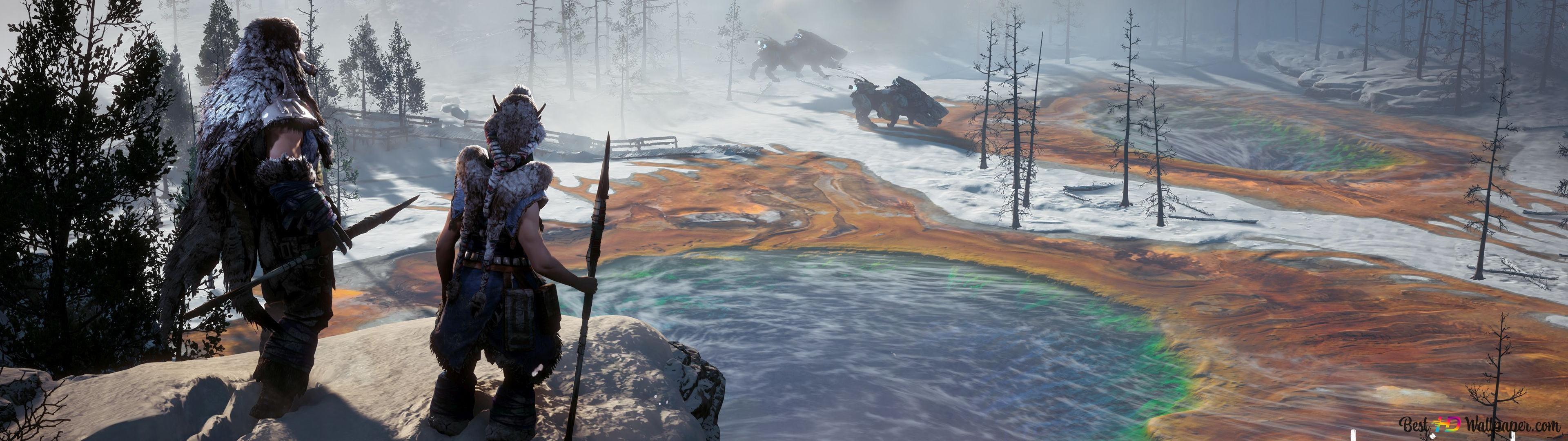 Horizon Zero Dawn Frozen Wilds Hd Wallpaper Download