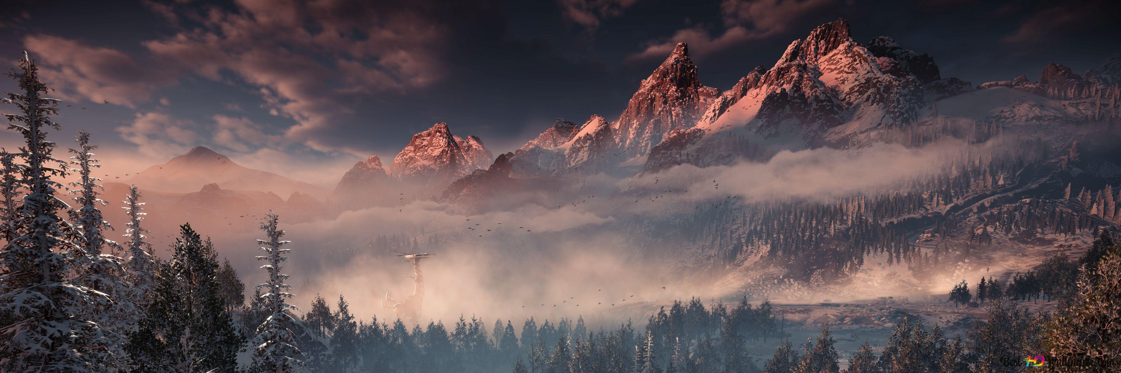 Horizon Zero Dawn The Frozen Wilds Hd Wallpaper Download