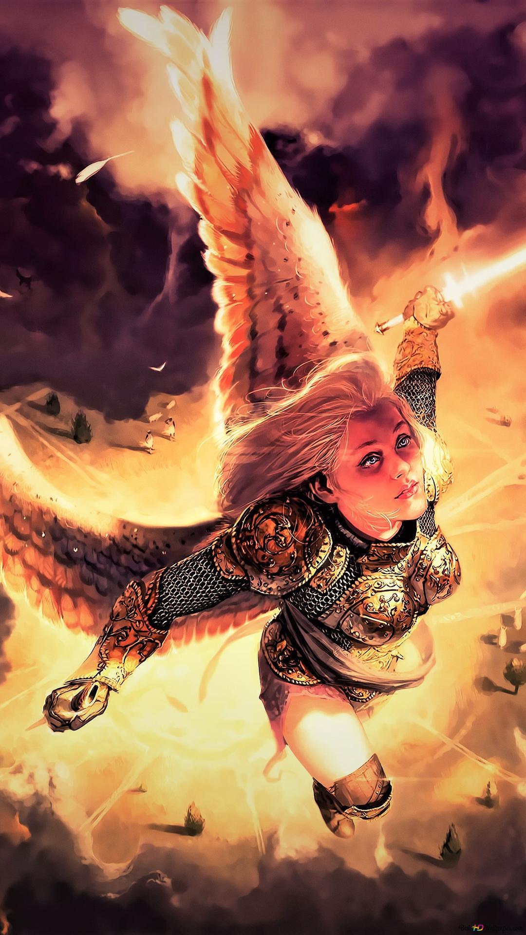 ファンタジー天使の戦士 Hd壁紙のダウンロード
