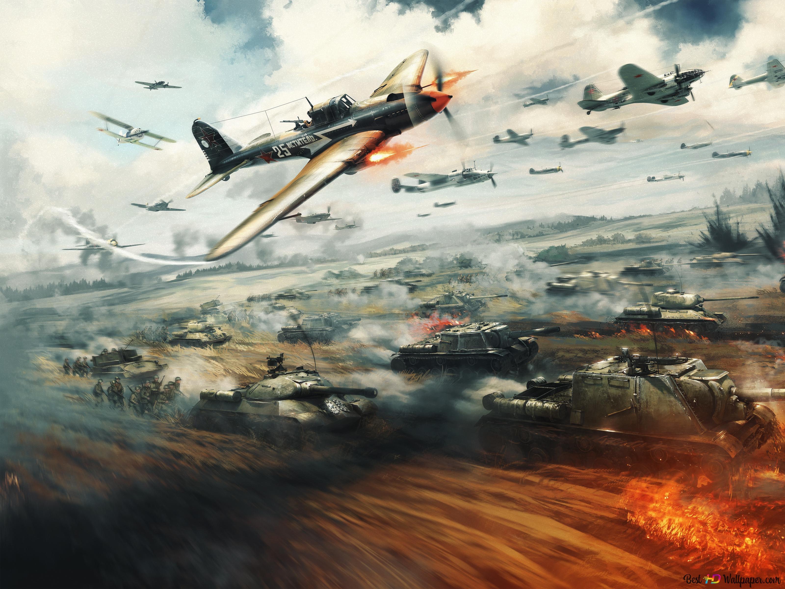 war thunder бои танков и самолетов