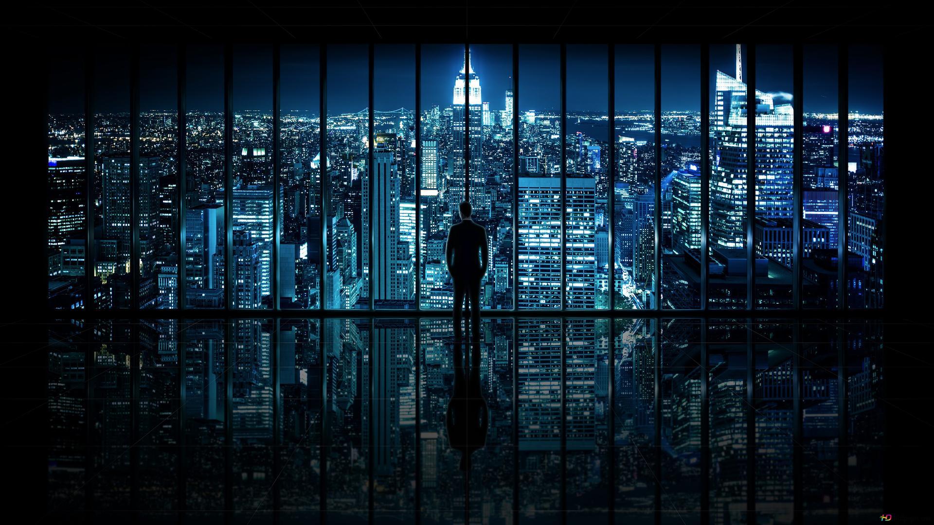 In New York Auf Einer Hand Hd Hintergrundbilder Herunterladen