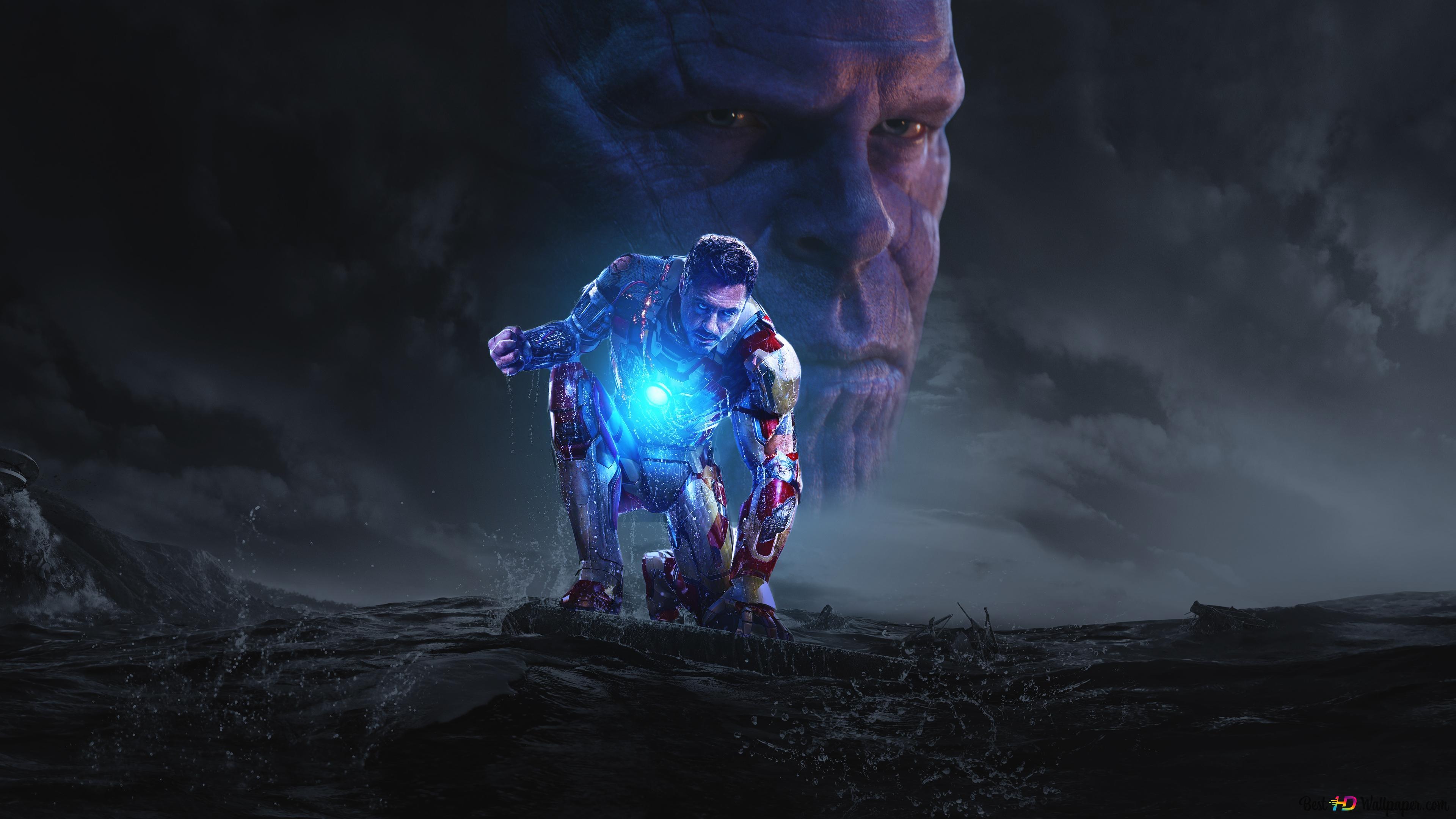 Iron Man 3 Thanos And Tony Stark Hd Wallpaper Download