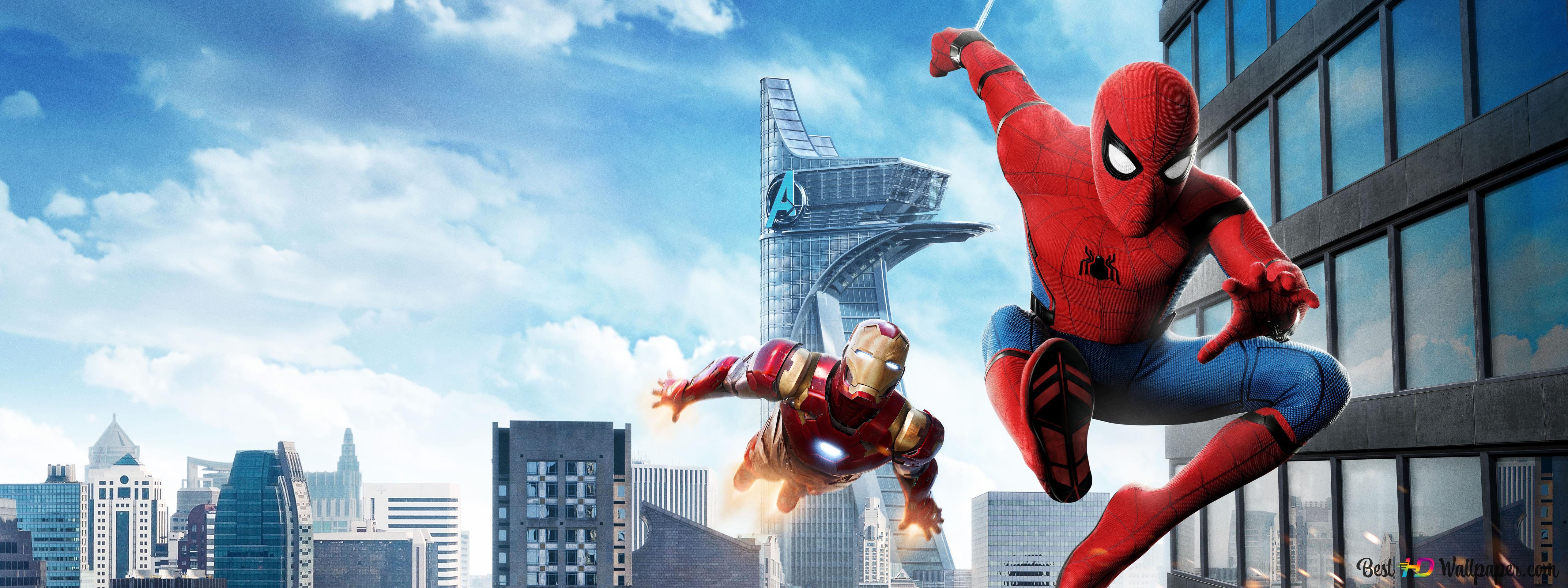 Iron Man Chasing Spider Man Hd Wallpaper Download
