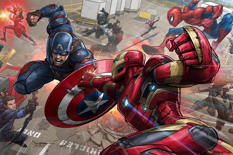 Iron Man Vs Captain America Hd Wallpaper Download