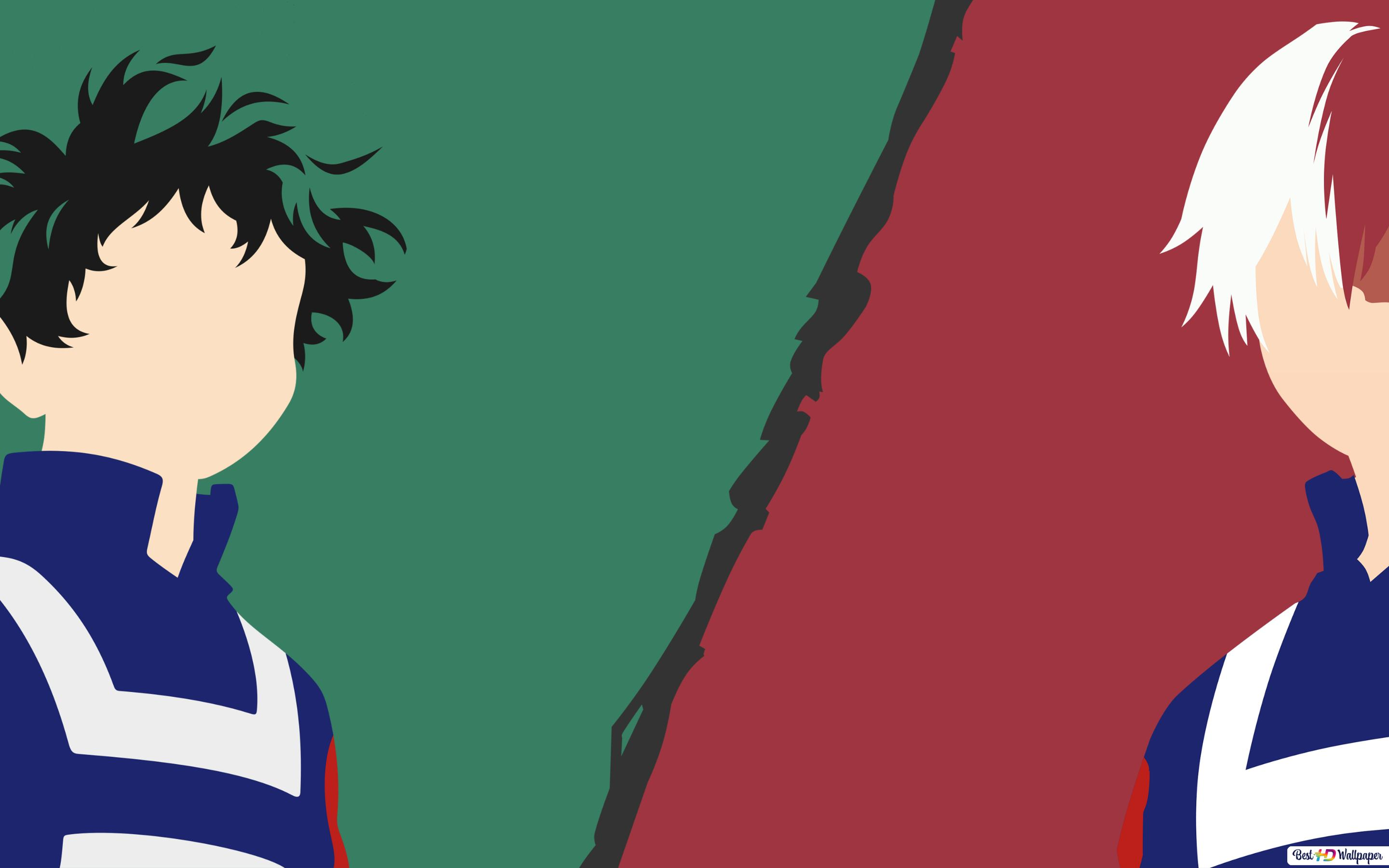 Izuku Midoriya And Shoto Todoroki Of My Hero Academia Hd Wallpaper
