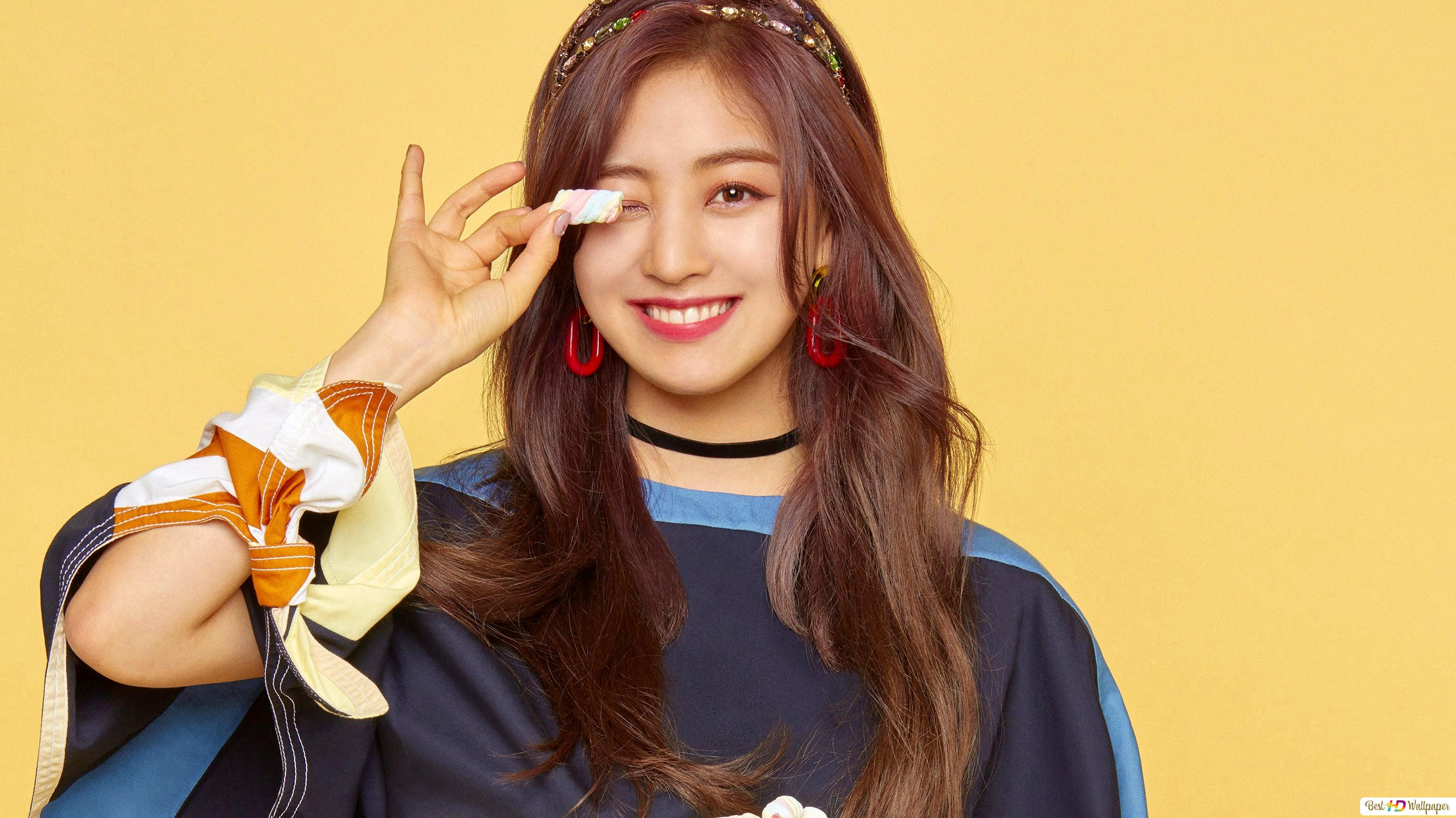 Jihyo From Twice K Pop Band Hd Wallpaper Download