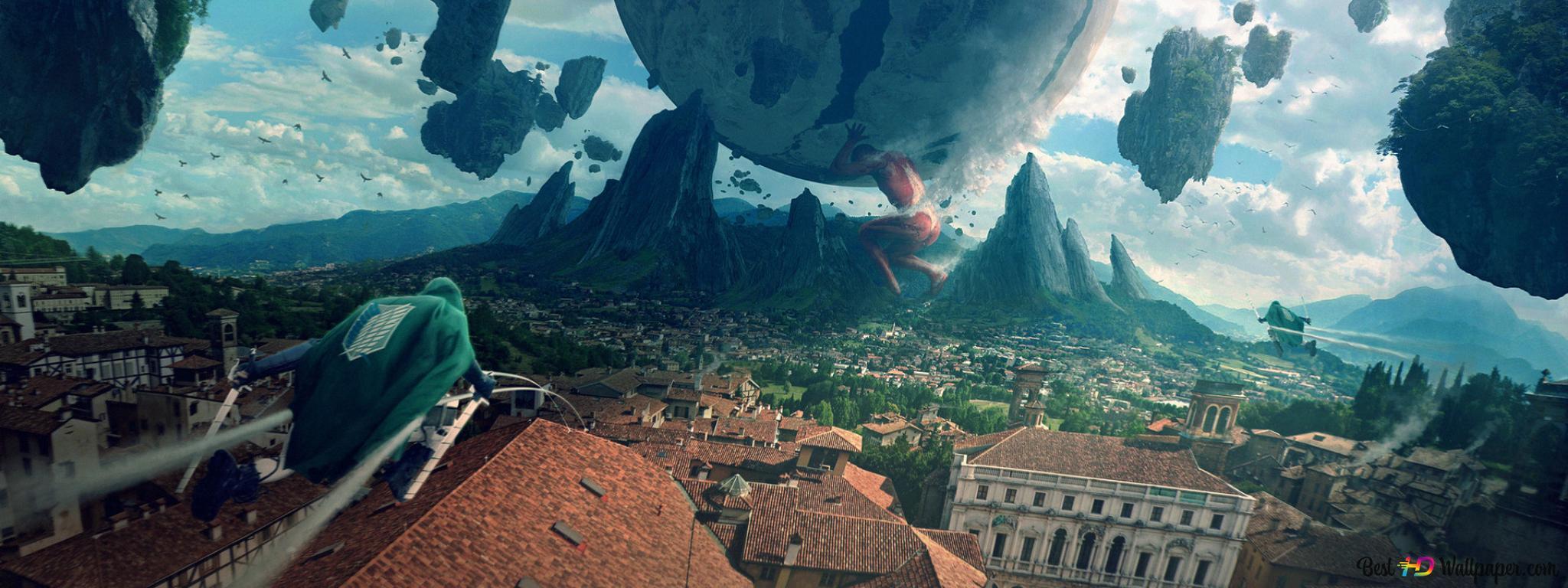 巨大タイタン 進撃の巨人 Hd壁紙のダウンロード
