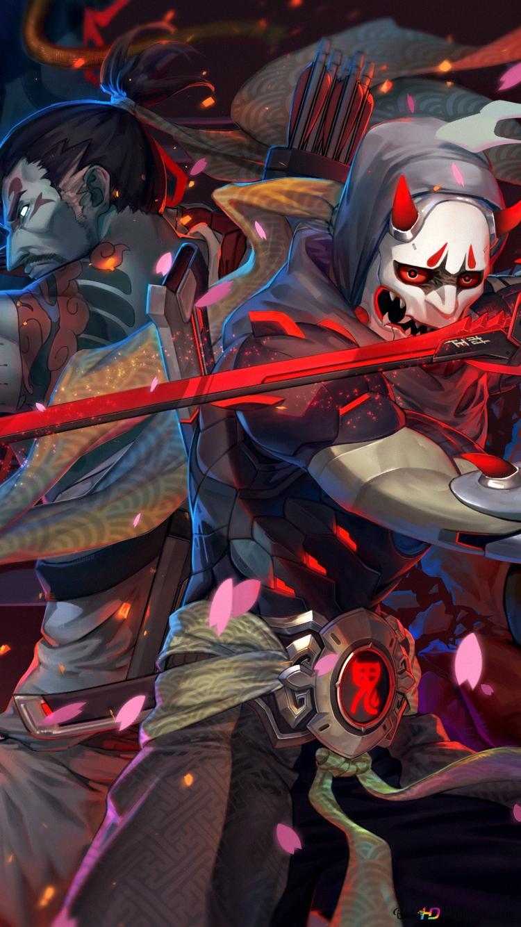Descargar Fondo De Pantalla Juego Overwatch Genji Y Hanzo