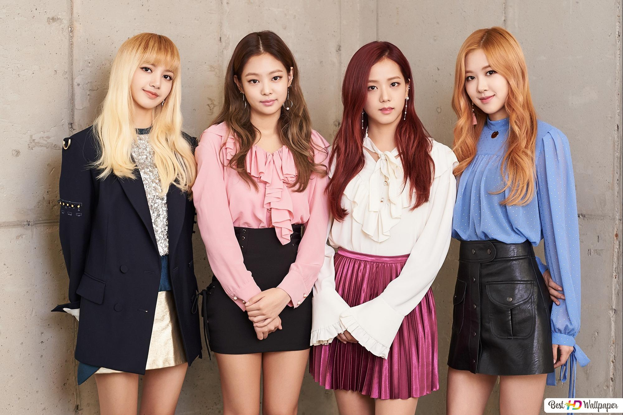 K Pop Girls Group Blackpink Members Hd Wallpaper Download