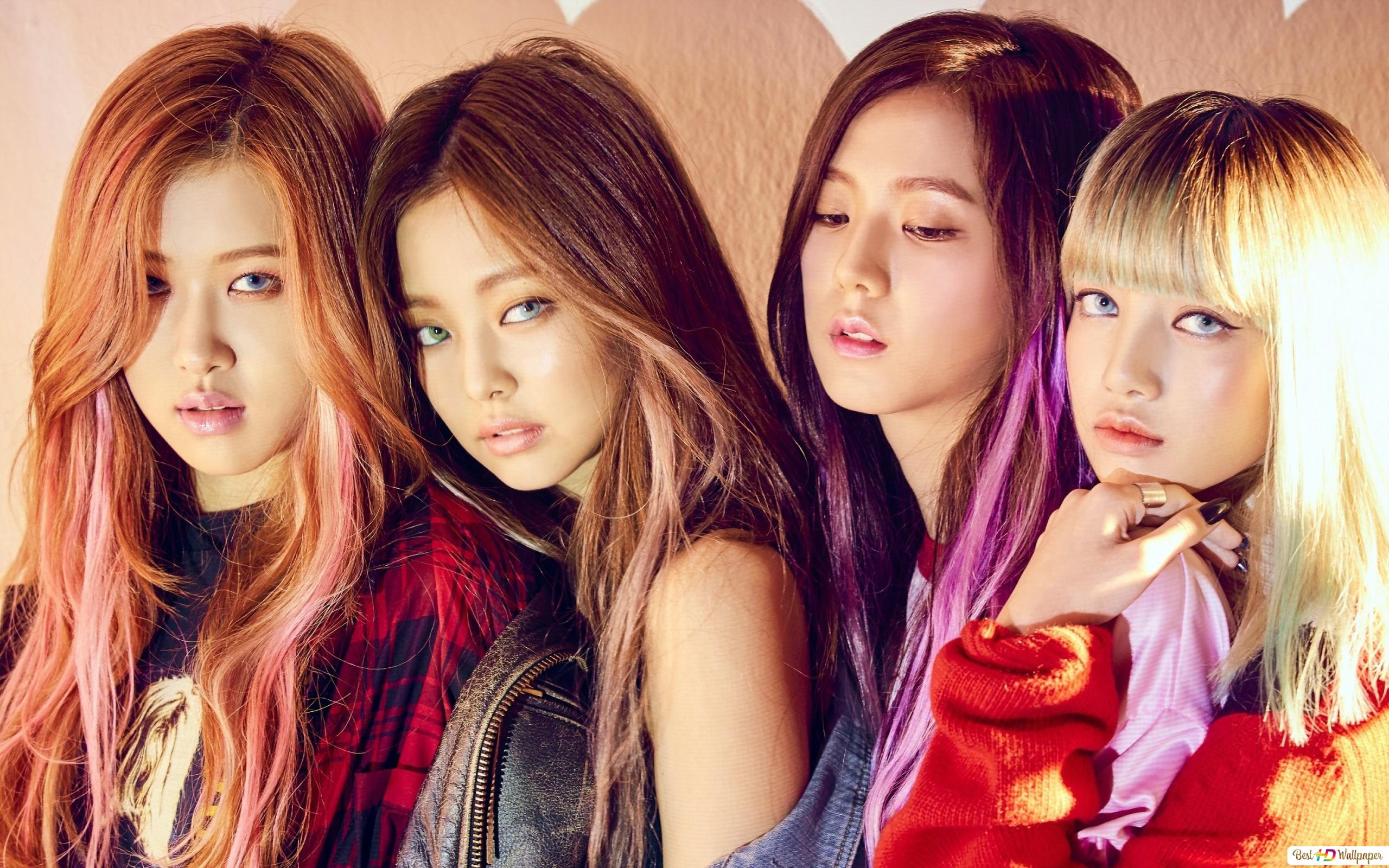 K Pop Music Girls Group Blackpink Members Hd Wallpaper Download