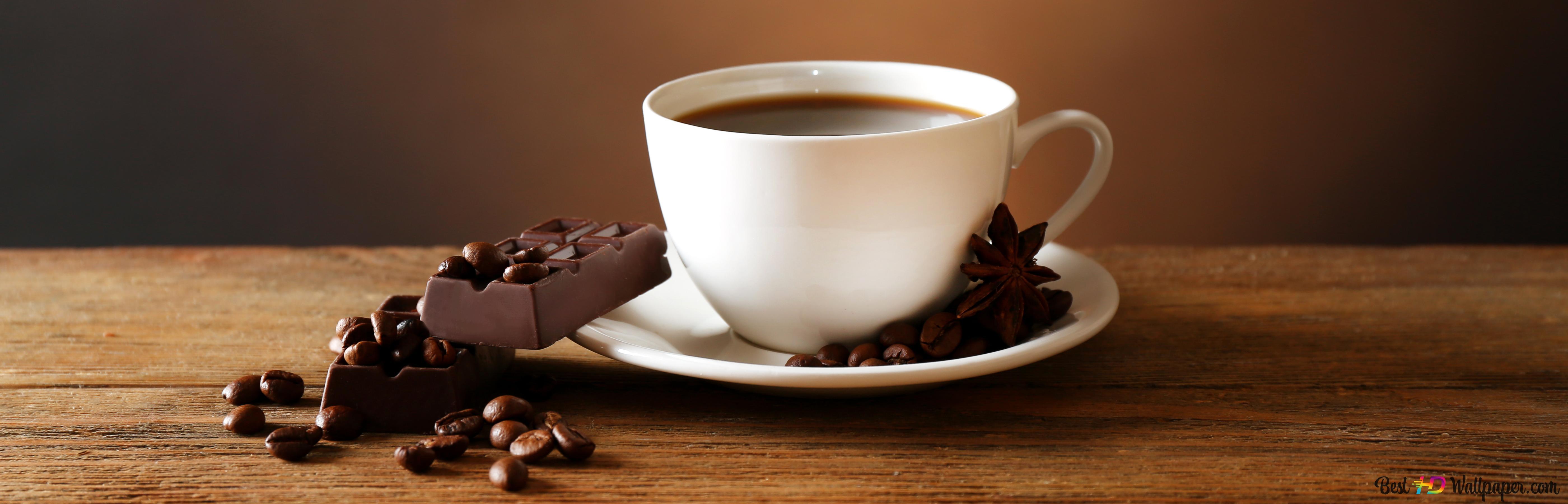 Kaffe med choklad HD tapet nedladdning