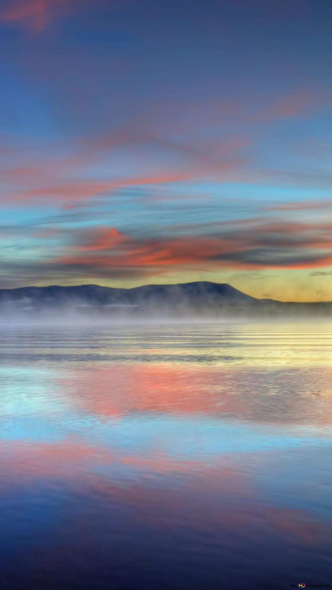カラフルな夕焼けの海の反射 Hd壁紙のダウンロード