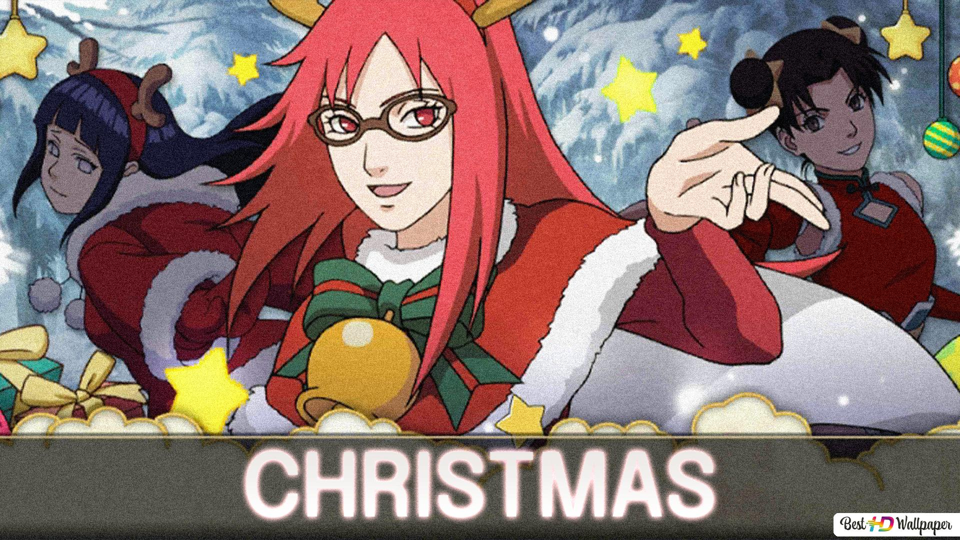 Karin Hinata and Tenten (Christmas) HD wallpaper download