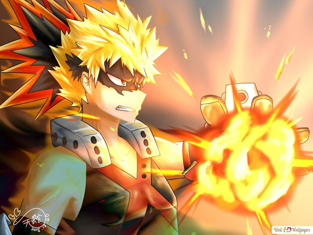 Katsuki Bakugo Quirkexplosion My Hero Academia Hd