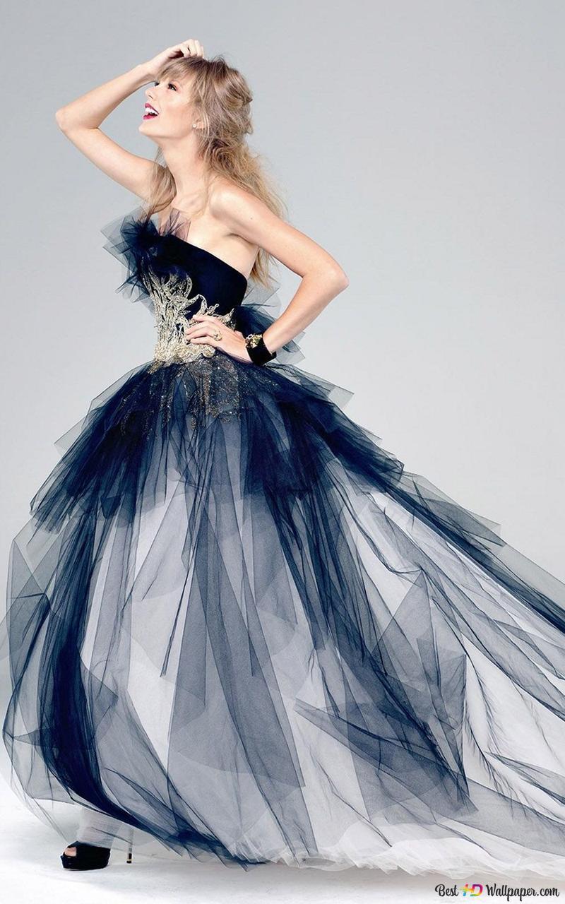 かわいい黒のドレスでテイラー スウィフト Hd壁紙のダウンロード