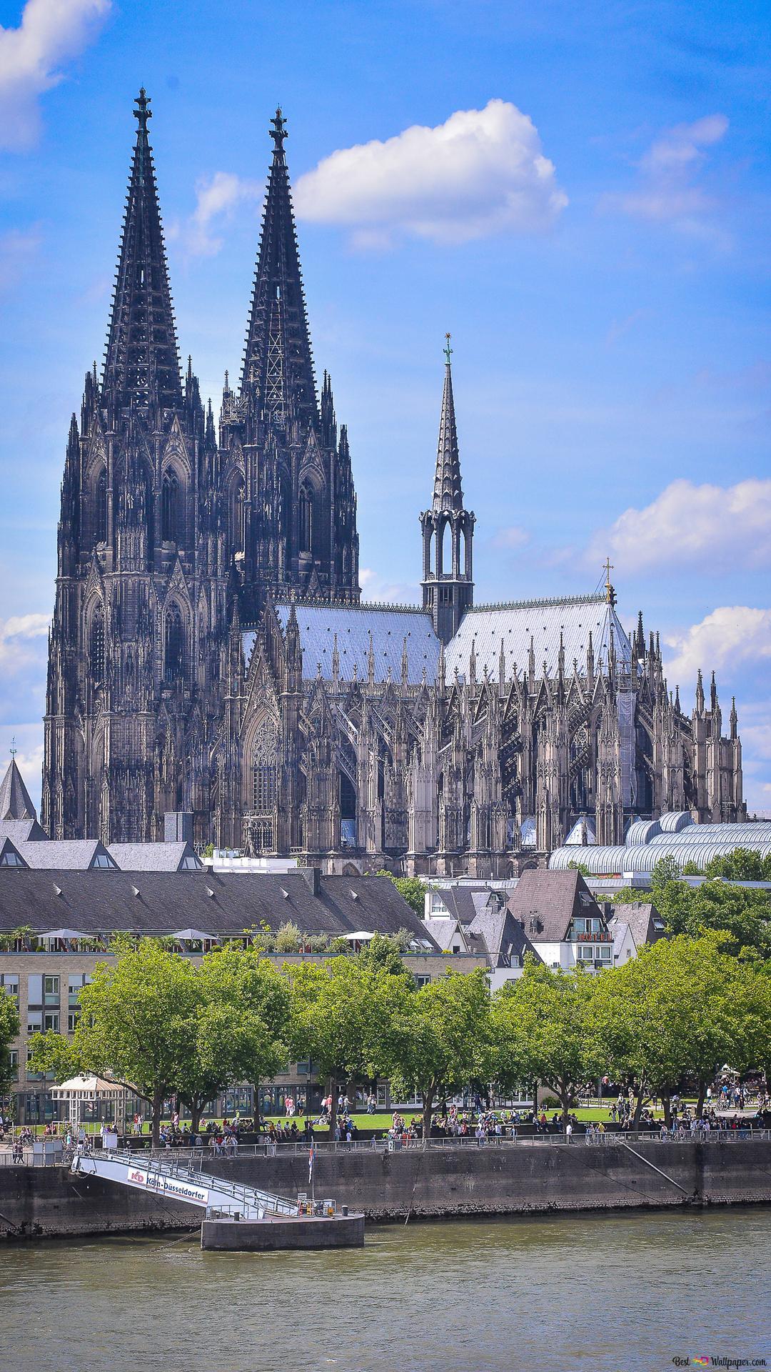 ケルン大聖堂 ケルン ドイツのライン川 Hd壁紙のダウンロード