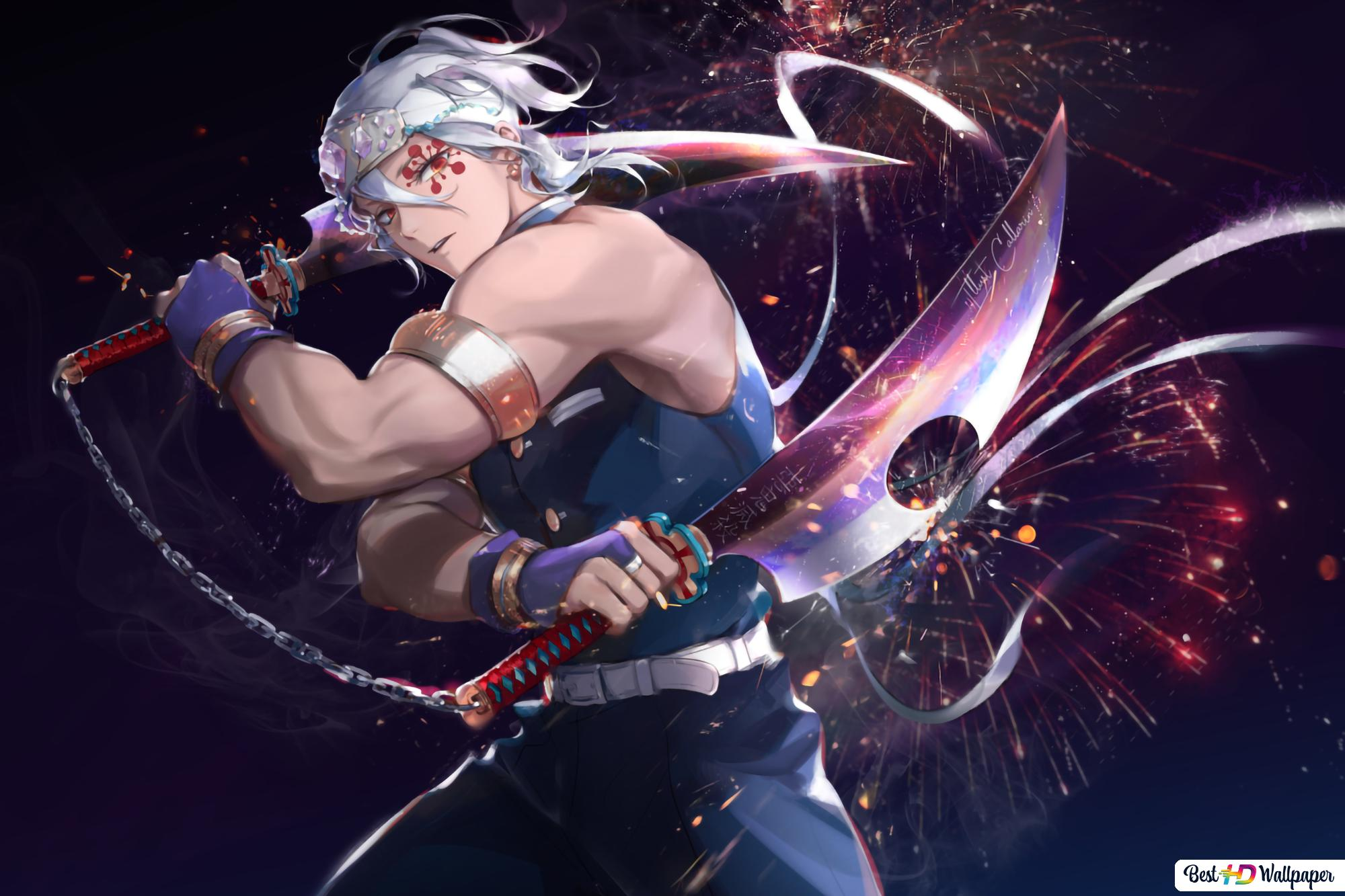 Kimetsu No Yaiba Sound Hashira Tengen Uzui Hd Wallpaper Download See more ideas about slayer anime, slayer, demon. sound hashira tengen uzui hd wallpaper