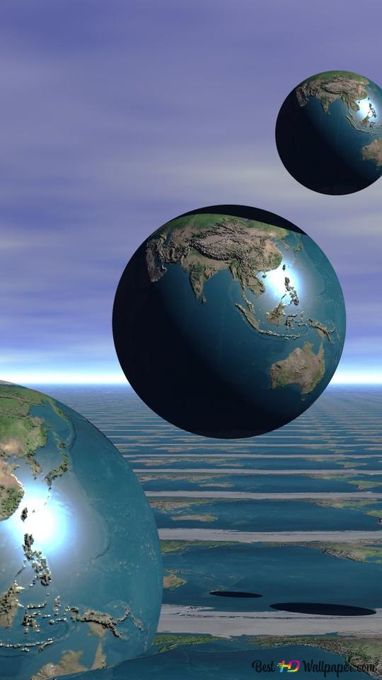 Kunstlerische Erde 3d Hd Hintergrundbilder Herunterladen