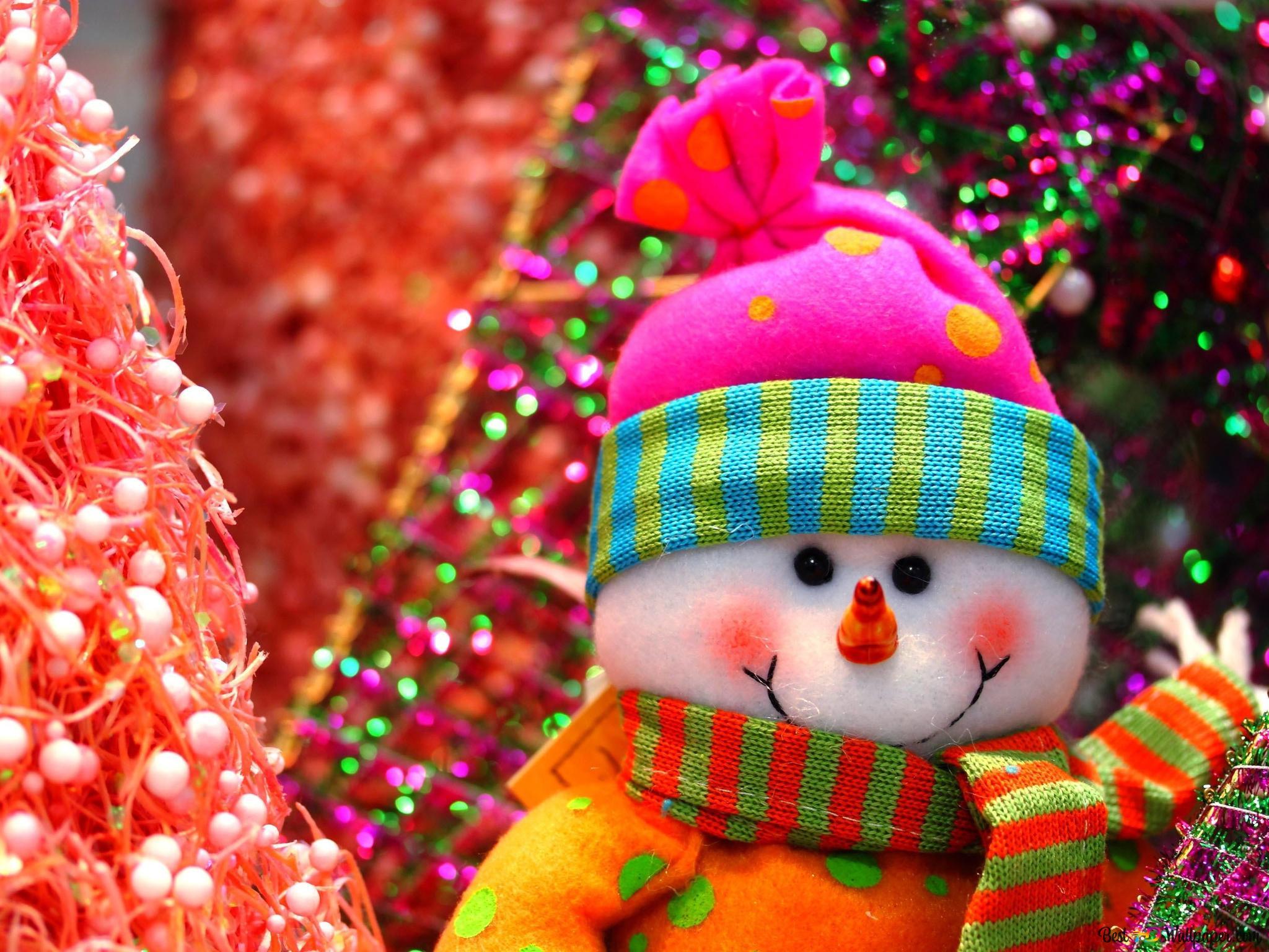 クリスマス かわいい雪だるま Hd壁紙のダウンロード