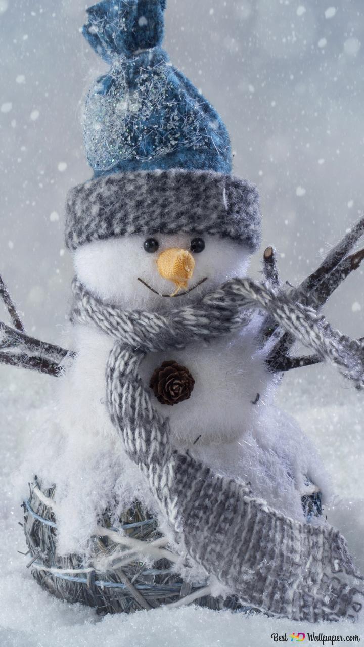 クリスマス 雪の中で雪だるま Hd壁紙のダウンロード
