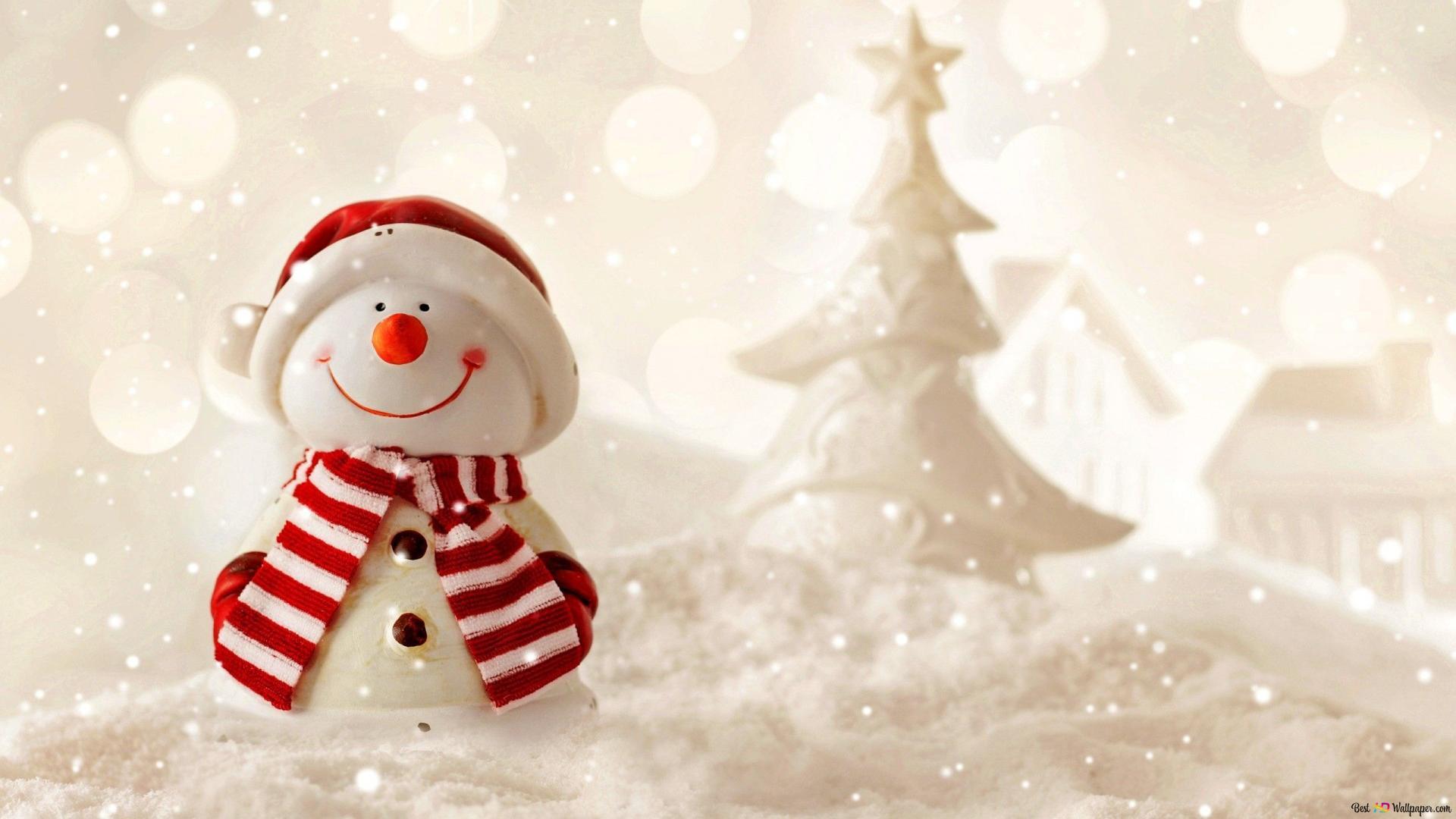 クリスマス 芸術的かわいい雪だるま Hd壁紙のダウンロード