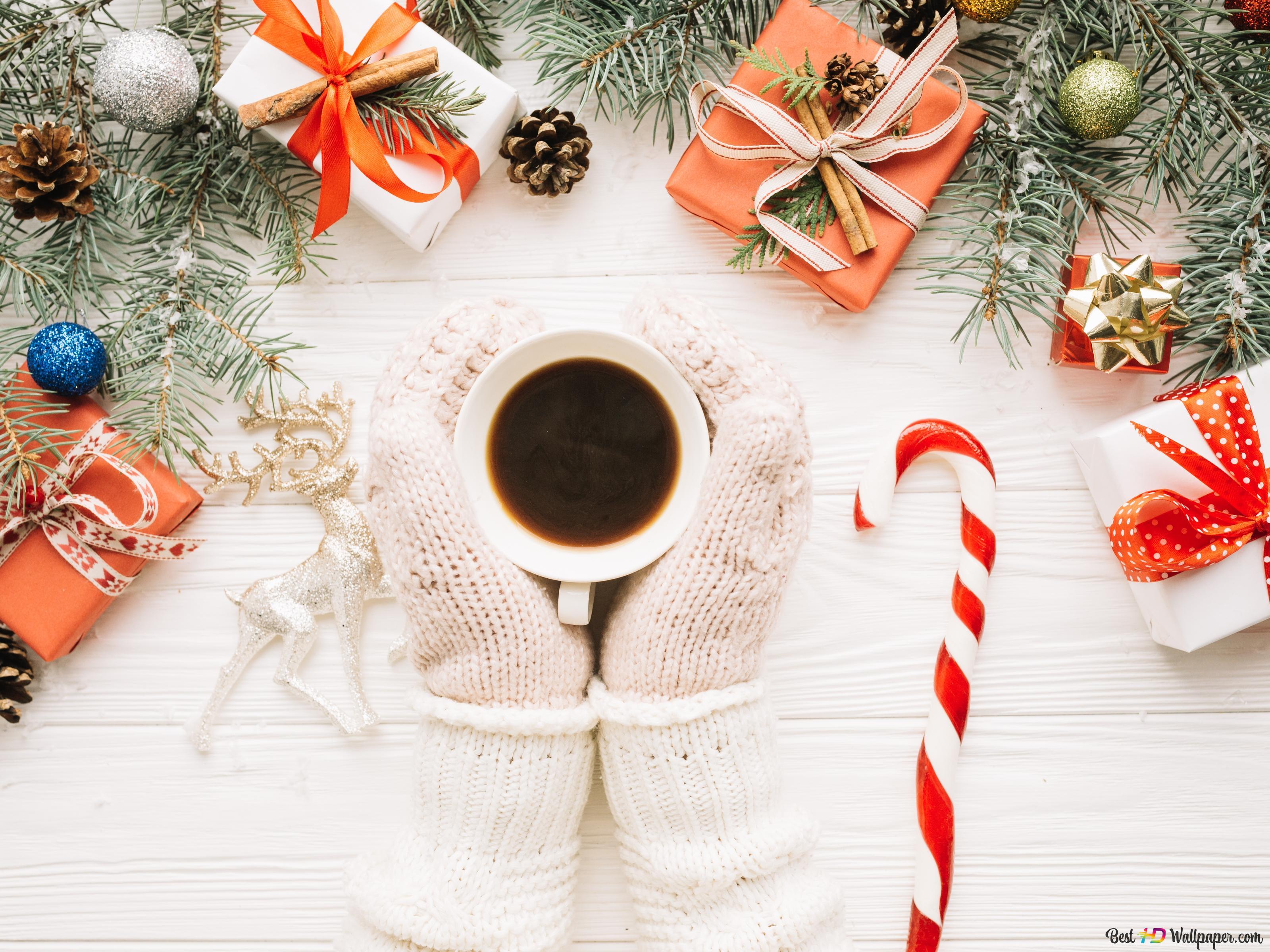 クリスマスの暖かいコーヒー Hd壁紙のダウンロード