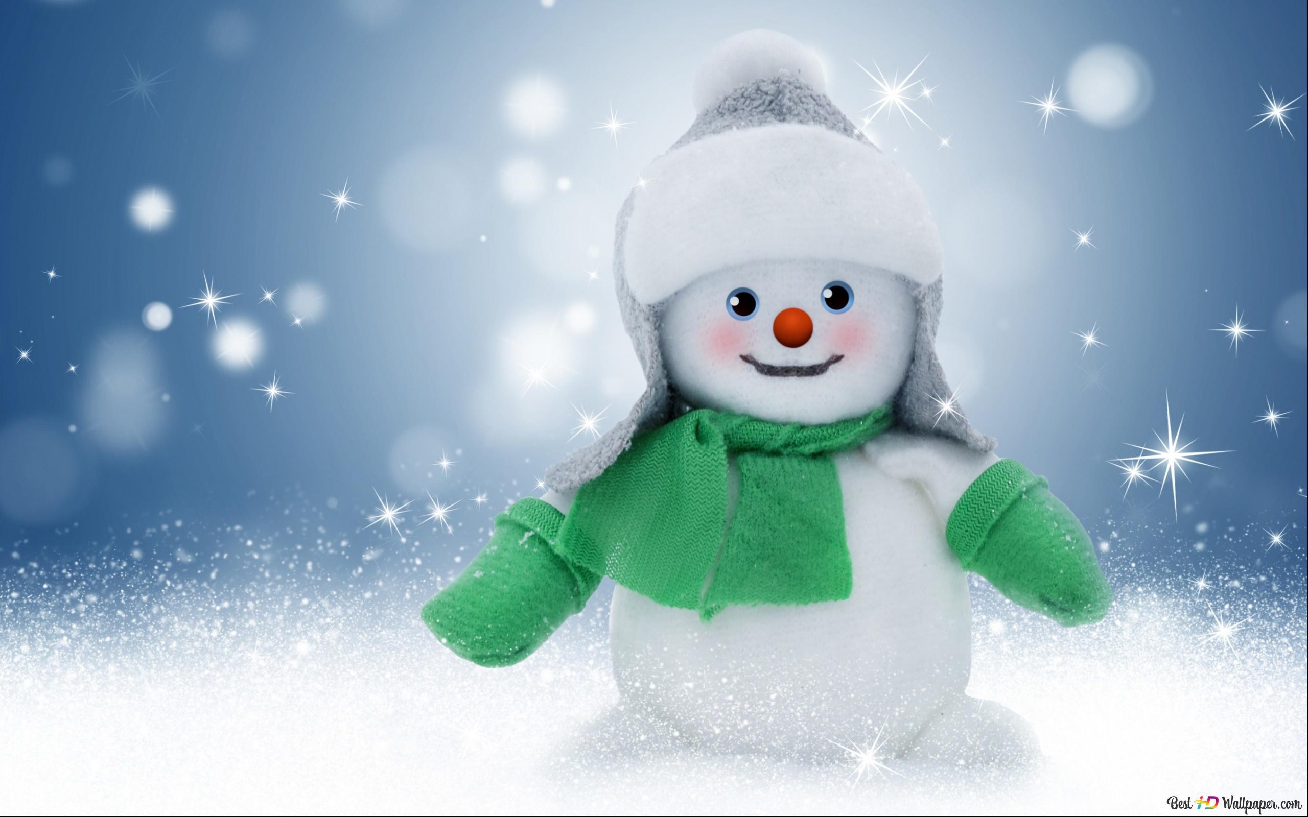 クリスマス雪だるま Hd壁紙のダウンロード