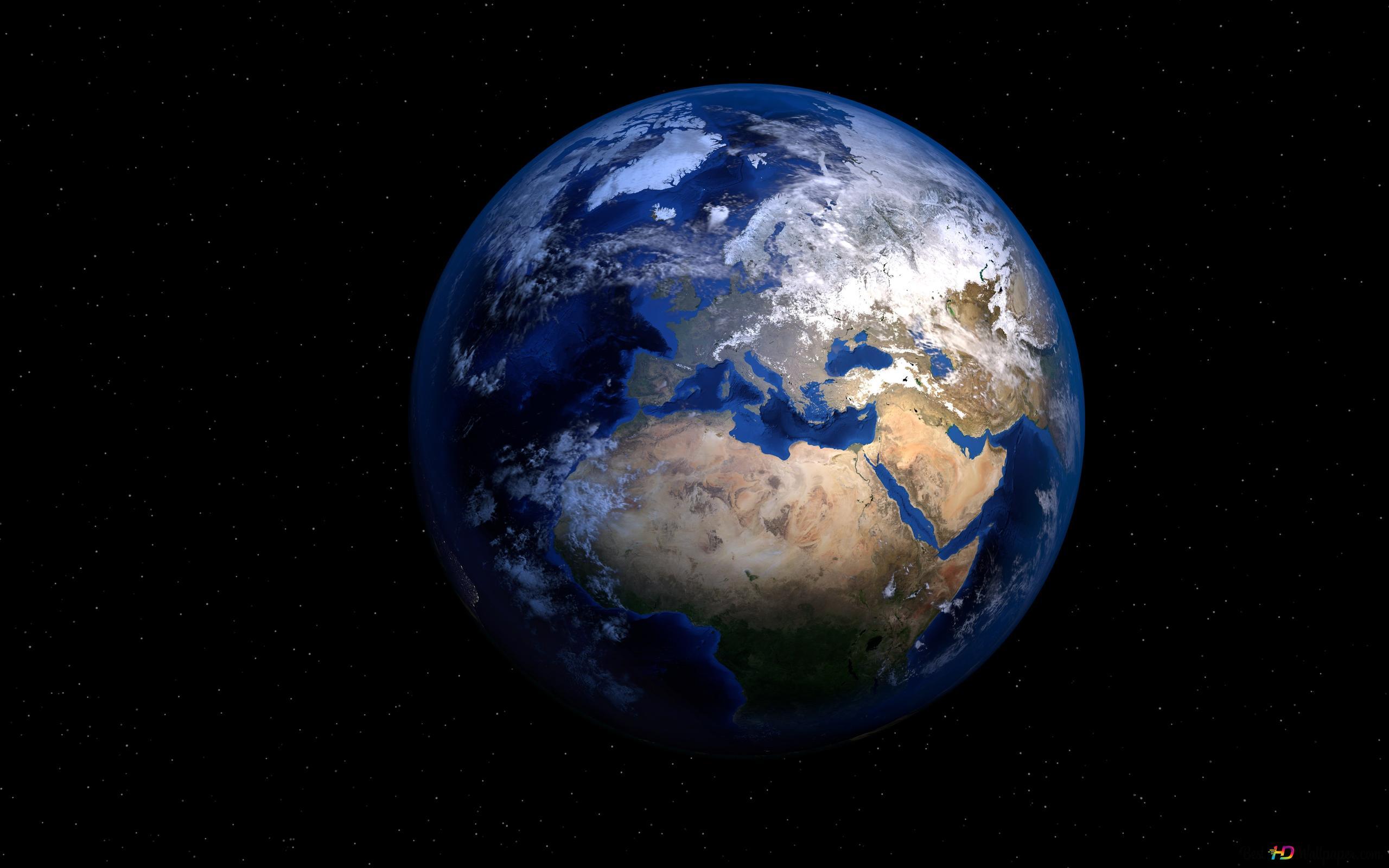 الأرض على خلفية سوداء تنزيل خلفية Hd
