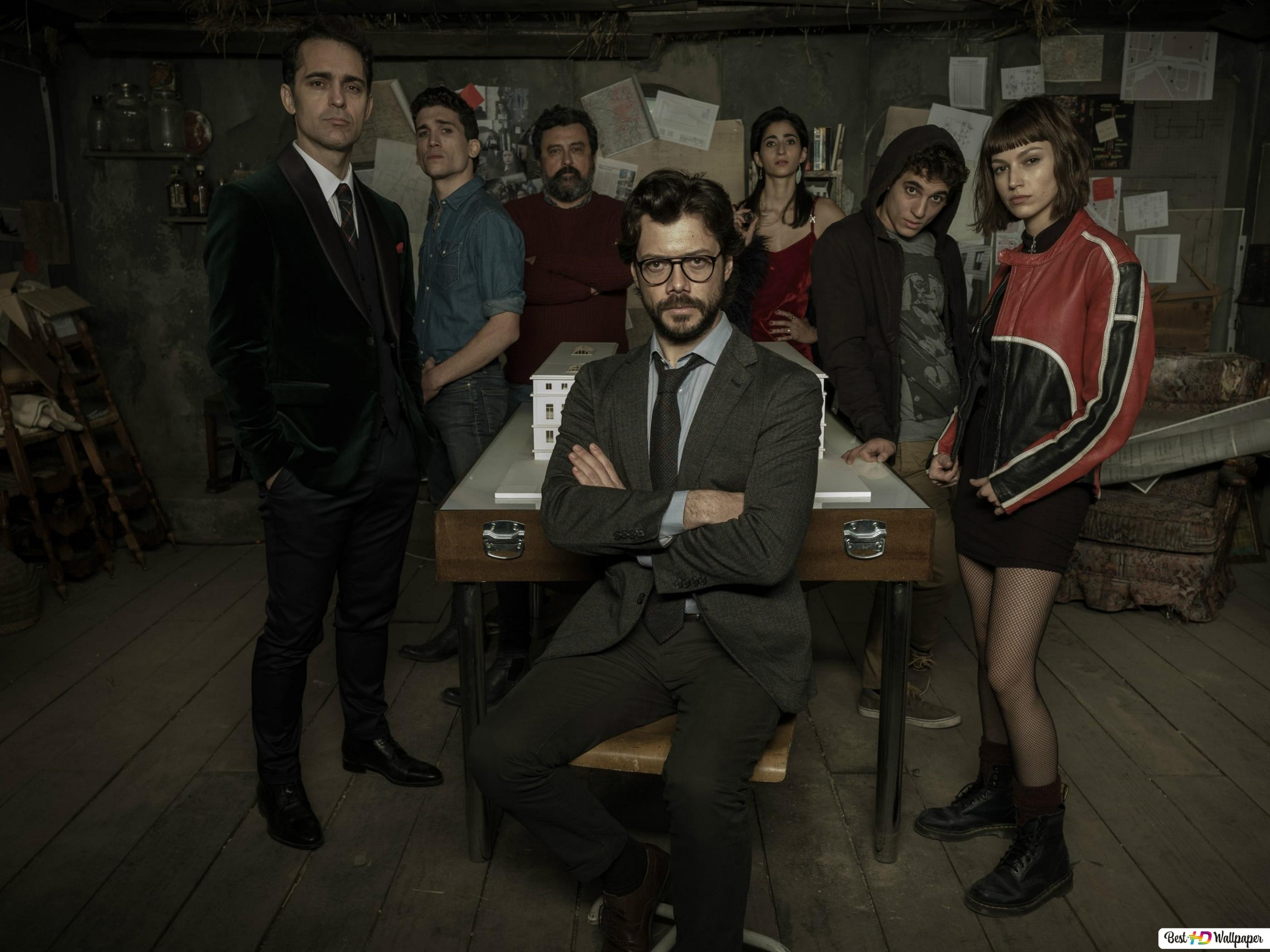 La Casa De Papel Team Hd Wallpaper Download