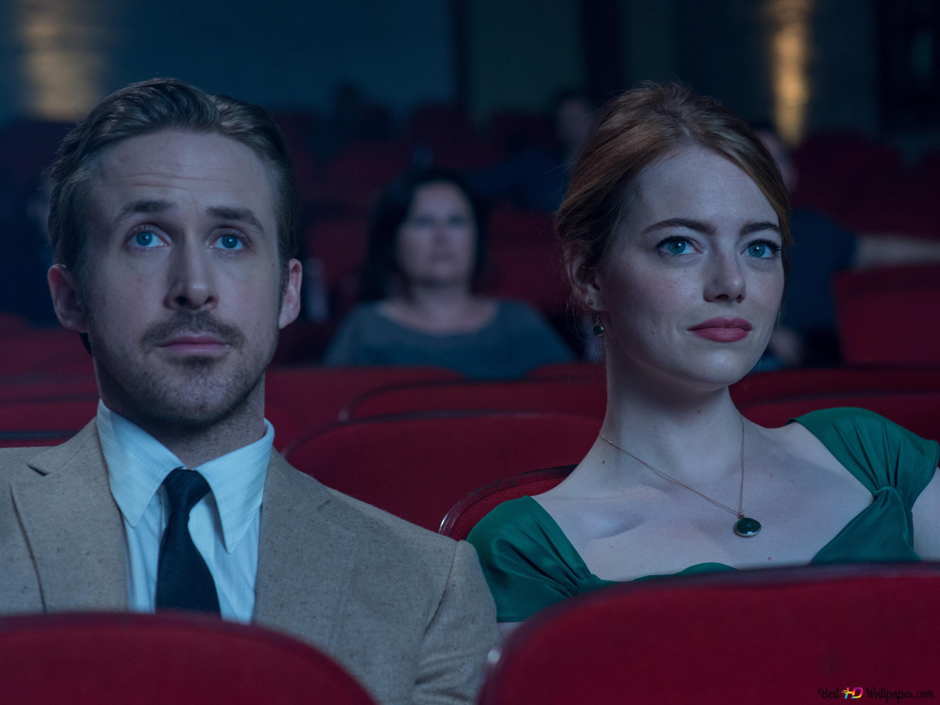 La La Land Mia And Sebastian On A Movie Date Hd Wallpaper Download